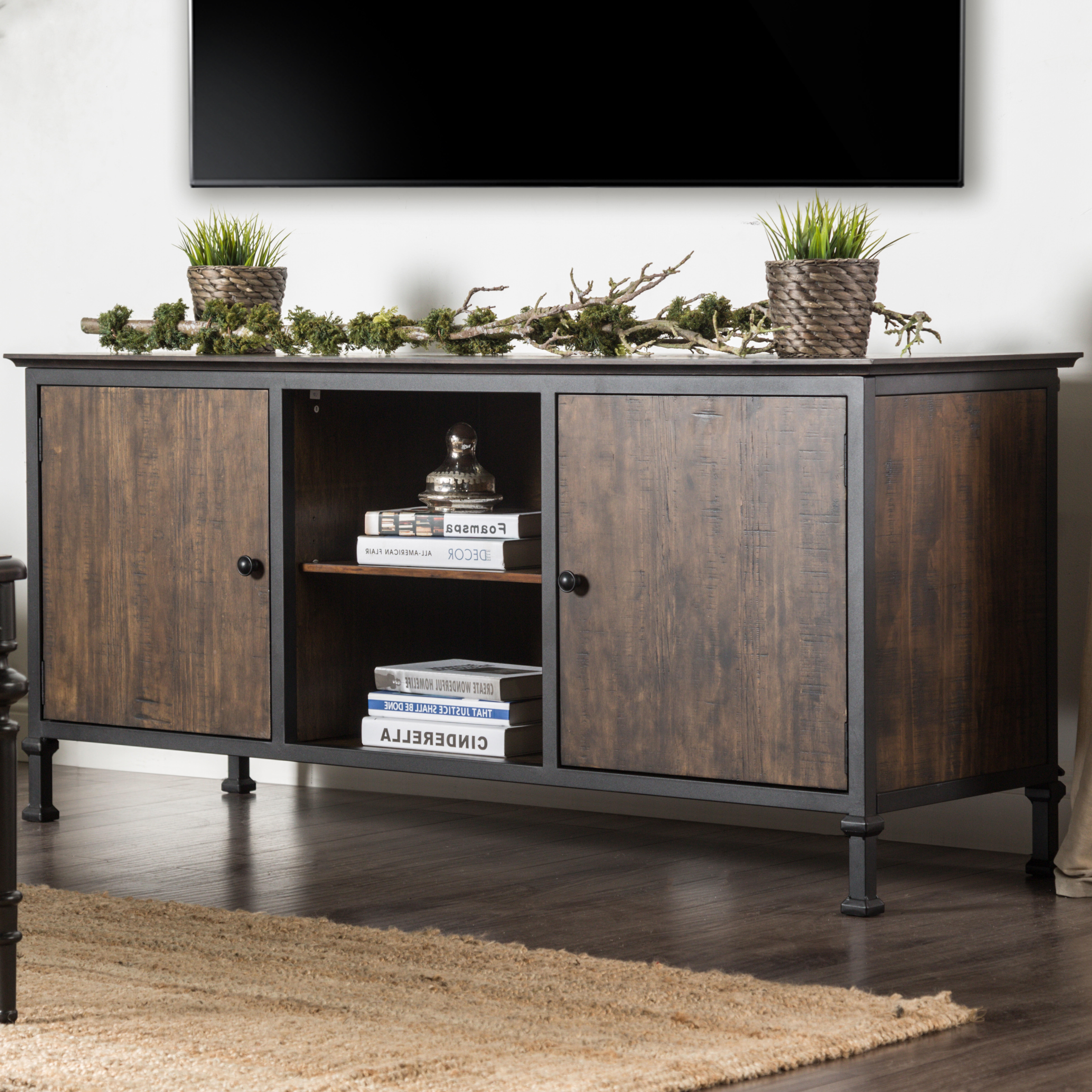 Gracie Oaks Berinda Transitional Tv Stand For Tvs Up To 60 With Laurent 60 Inch Tv Stands (View 7 of 20)