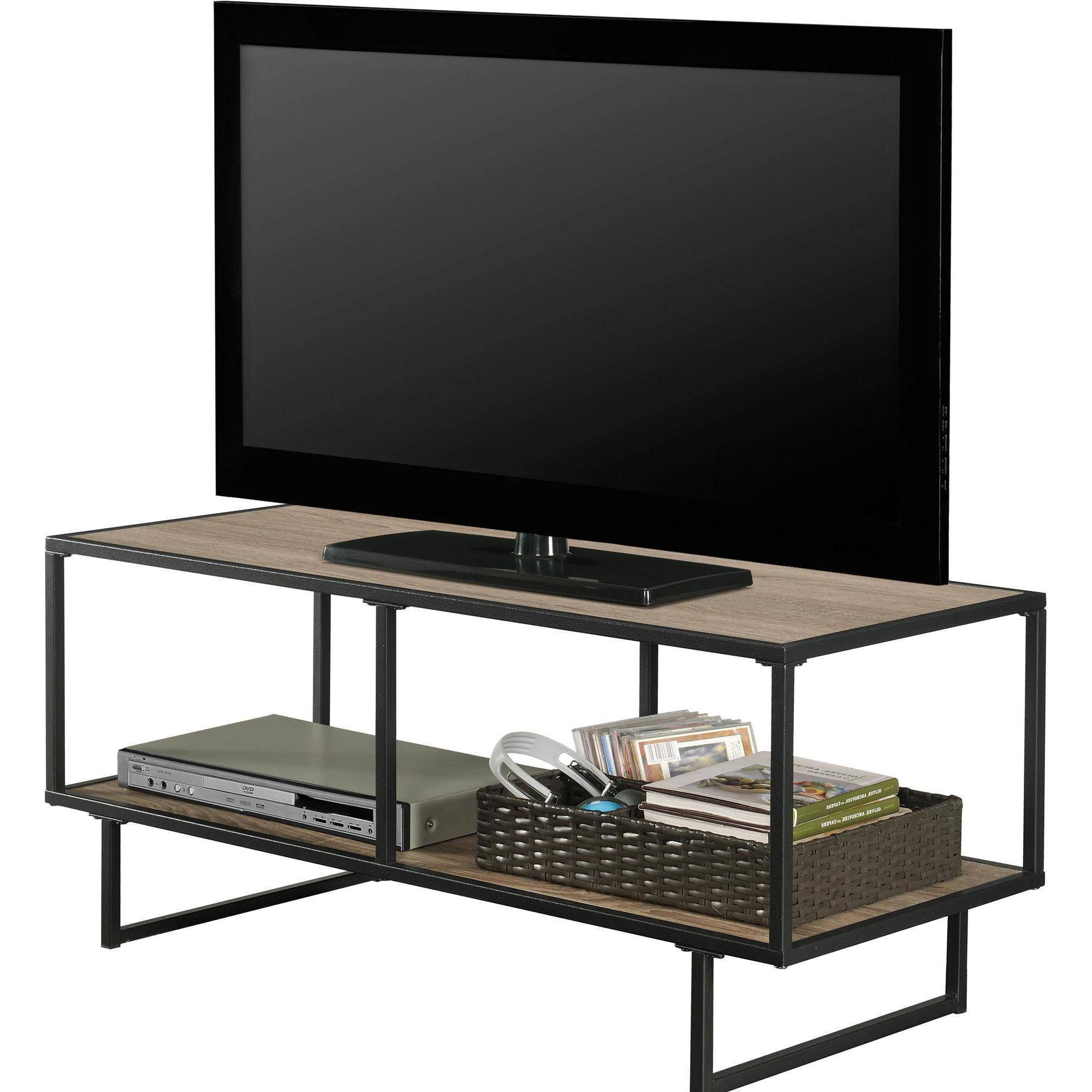 Gray Tv Cabinets Wood Stand We Furniture 58 Storage Console Charcoal Intended For Gunmetal Media Console Tables (View 8 of 20)