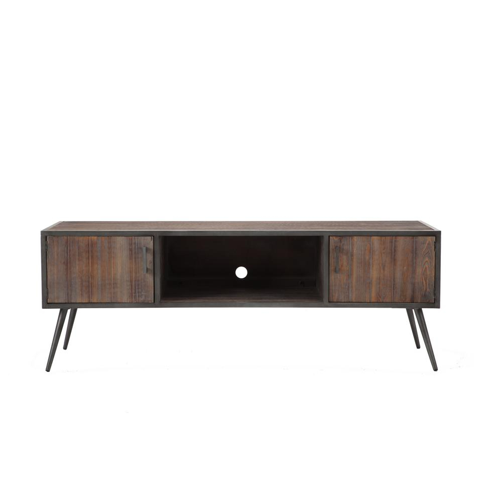 Gray – Tv Stands – Living Room Furniture – The Home Depot Intended For Abbot 60 Inch Tv Stands (View 15 of 20)