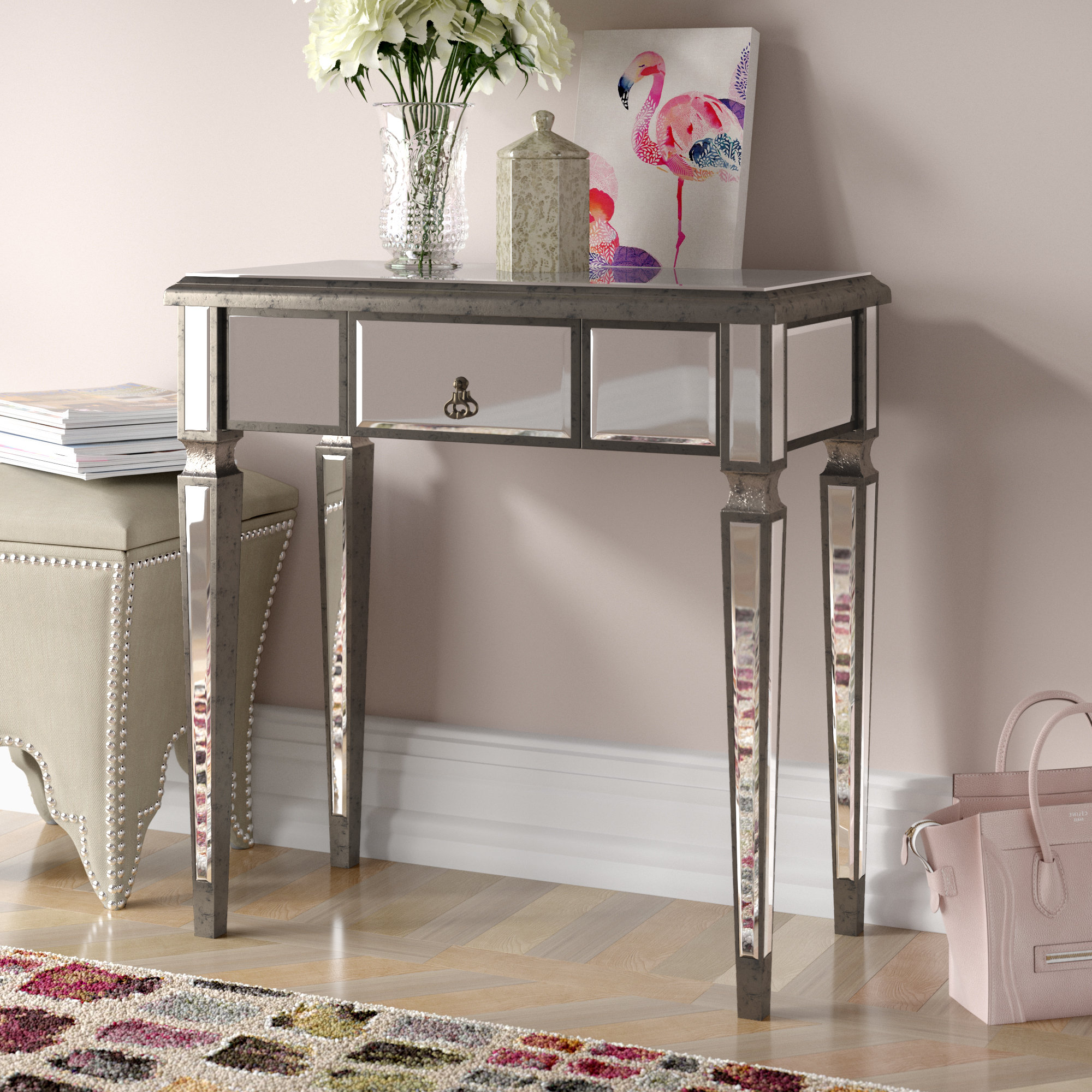 Grey Painted Console Table | Wayfair.co (View 8 of 20)
