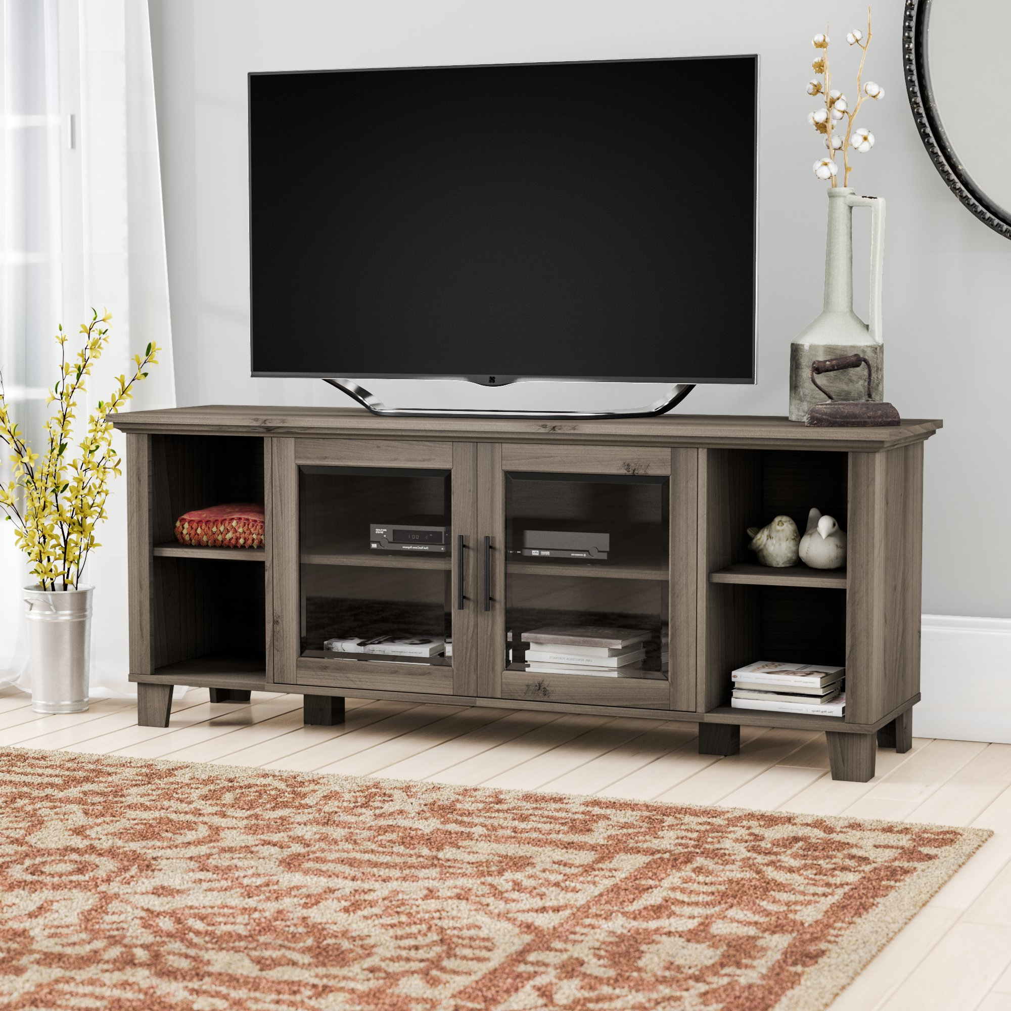 Grey Tv Stands | Birch Lane Inside Sinclair Grey 54 Inch Tv Stands (Gallery 16 of 20)