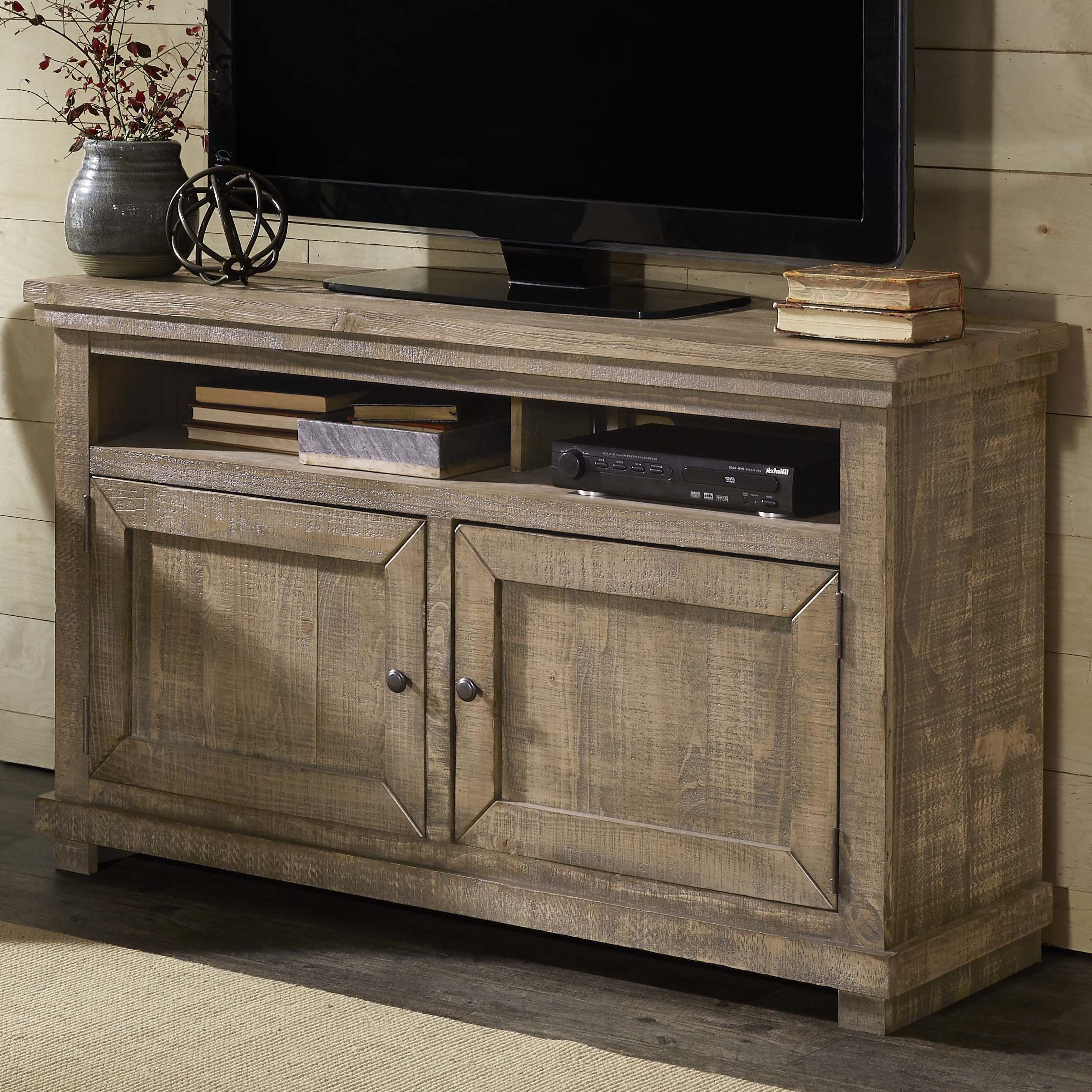 Grey Tv Stands | Birch Lane Inside Sinclair Grey 54 Inch Tv Stands (Gallery 11 of 20)