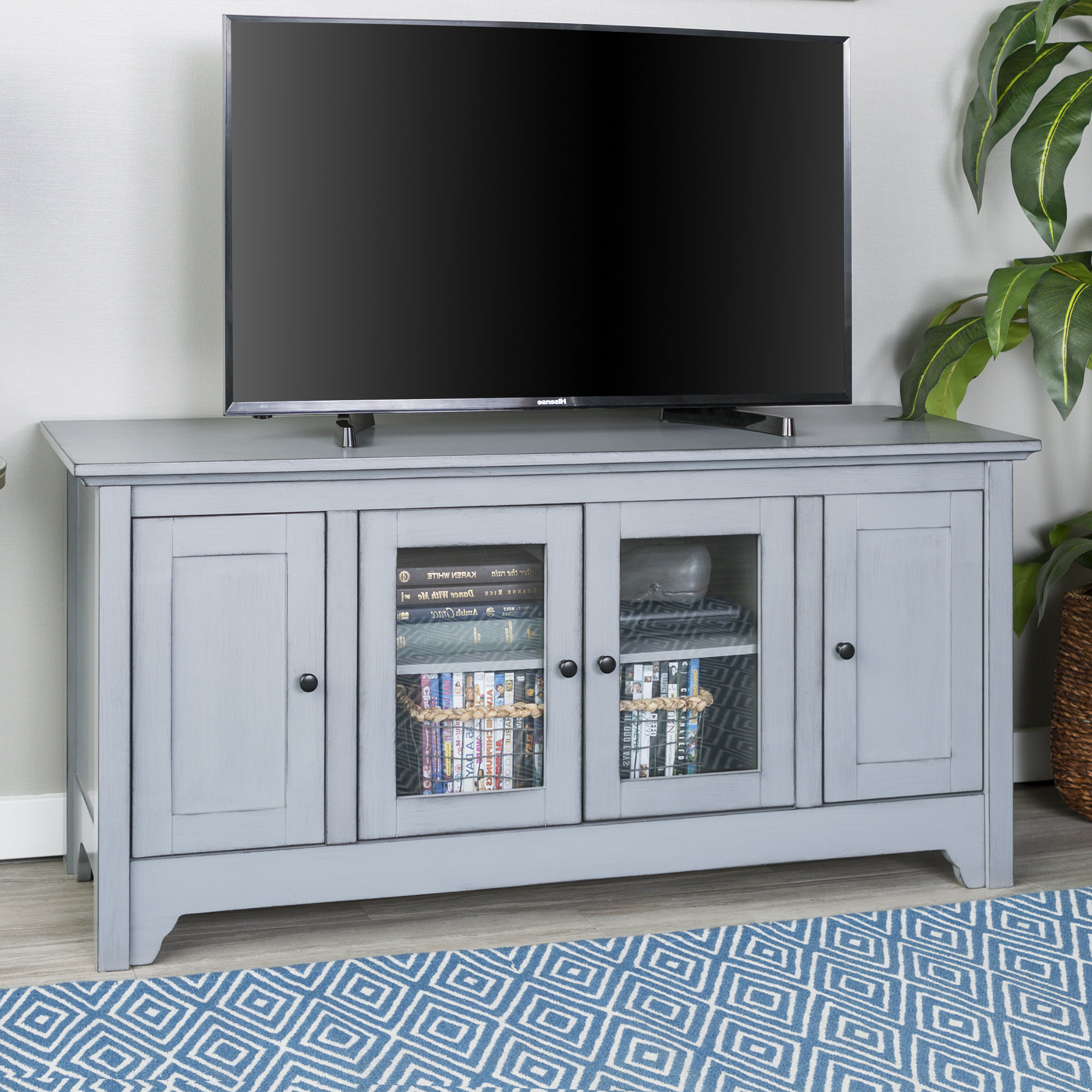 Grey Tv Stands | Birch Lane Pertaining To Sinclair Grey 54 Inch Tv Stands (View 7 of 20)
