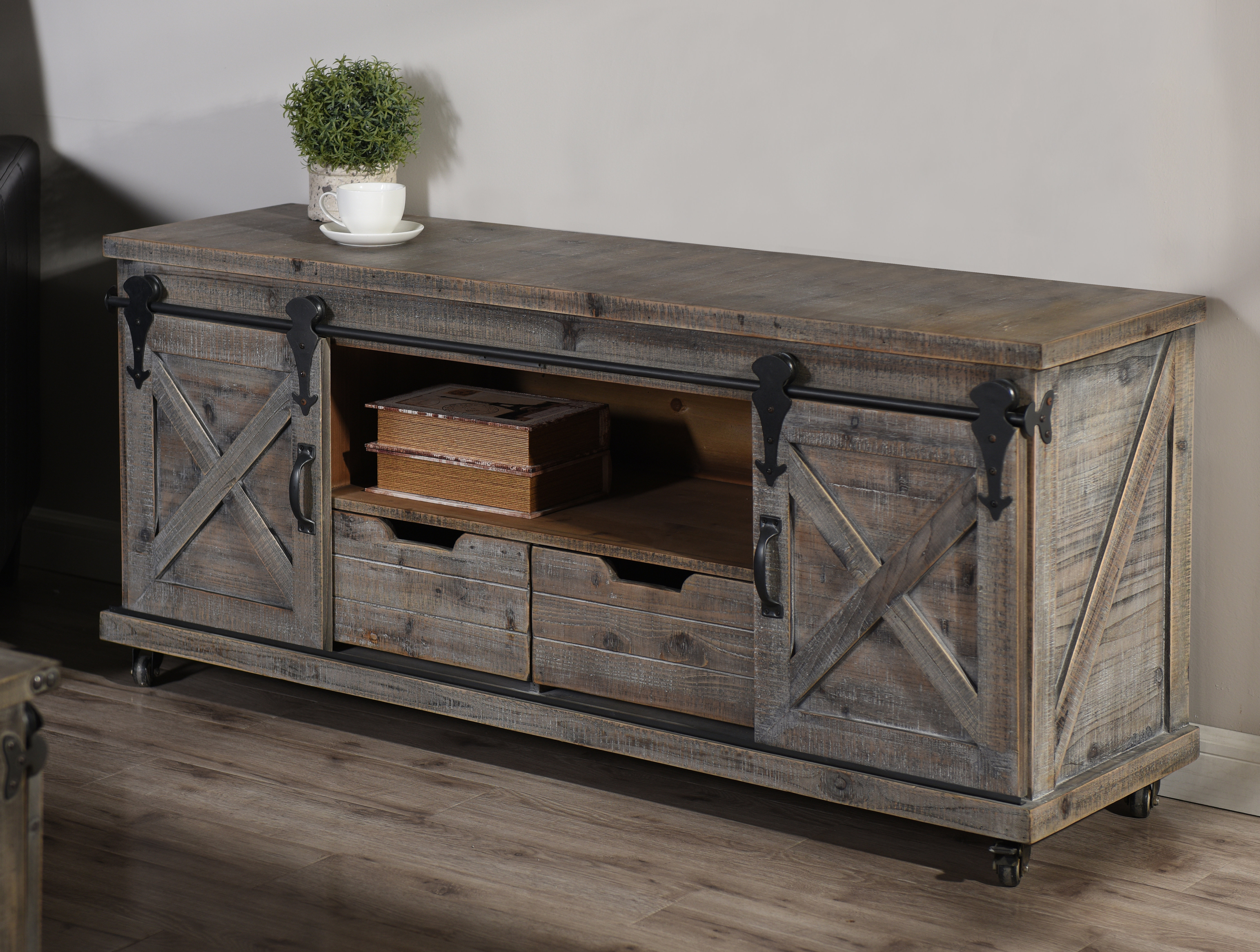 Grey Tv Stands | Birch Lane Pertaining To Sinclair Grey 68 Inch Tv Stands (View 18 of 20)