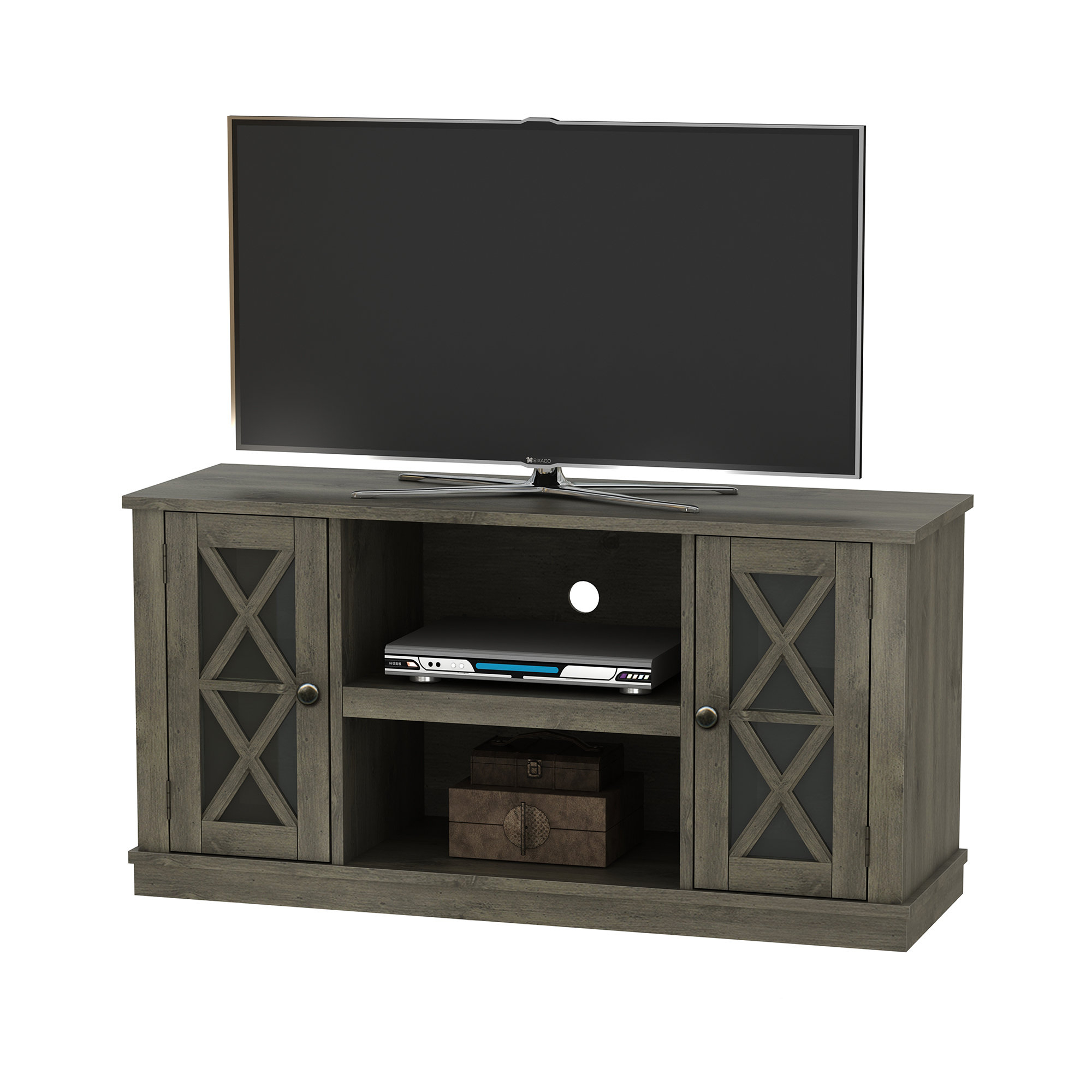 Grey Tv Stands | Birch Lane With Sinclair Grey 74 Inch Tv Stands (View 4 of 20)
