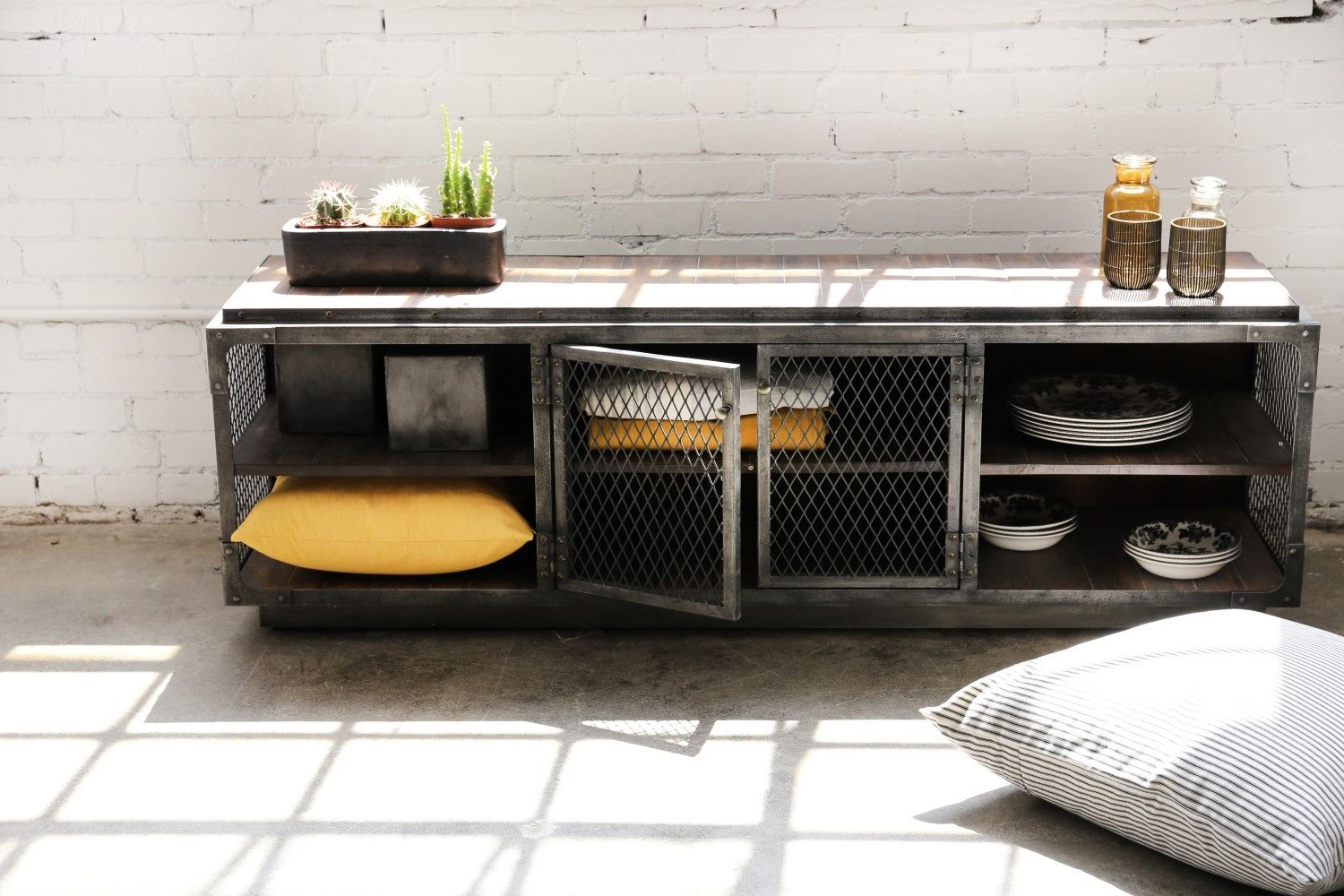 Gunmetal Tv Stand – Google Search | Home Interior Ideas | Tv Throughout Gunmetal Perforated Brass Media Console Tables (View 20 of 20)