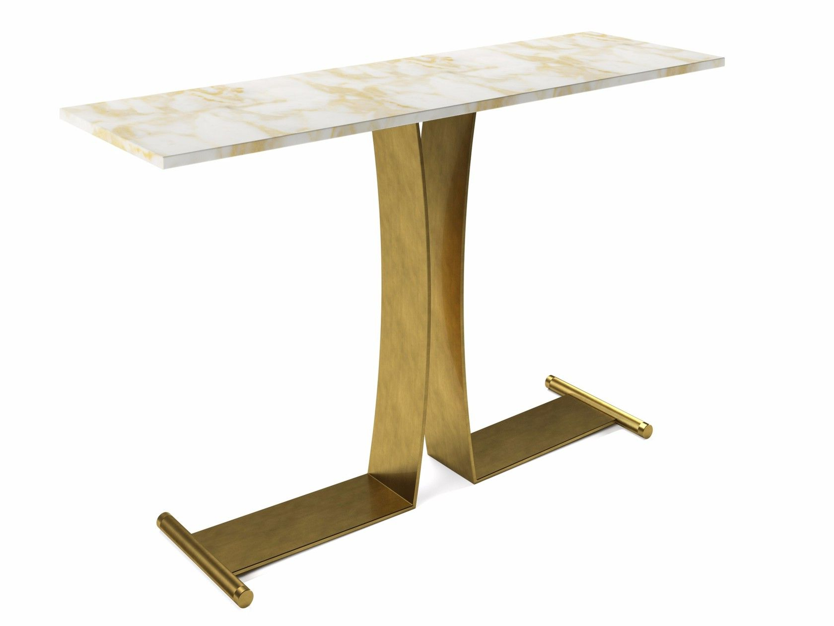 Guy | Console Table In 2018 | 1Gja Console Tables | Pinterest Throughout Parsons White Marble Top & Brass Base 48X16 Console Tables (Gallery 3 of 20)