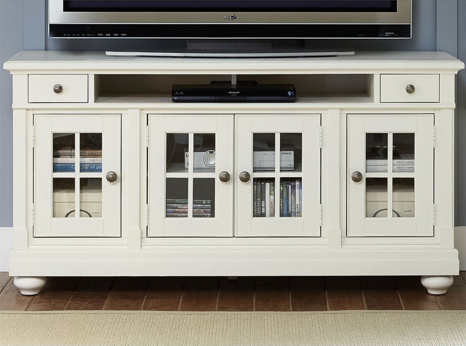 "Harbor View Linen Entertainment Wall Unit With 62"" Tv Console From Throughout Abbott Driftwood 60 Inch Tv Stands (View 12 of 20)"