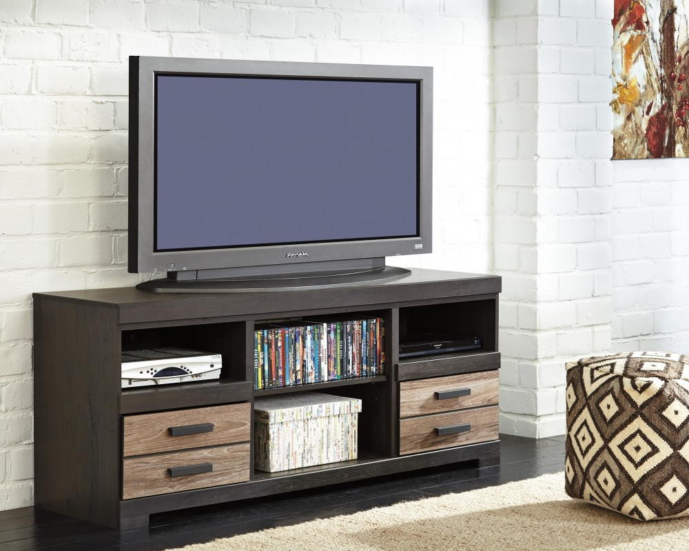 Harlinton – Two Tone – Lg Tv Stand W/fireplace Option | W325 68 | Tv Pertaining To Wyatt 68 Inch Tv Stands (View 7 of 20)