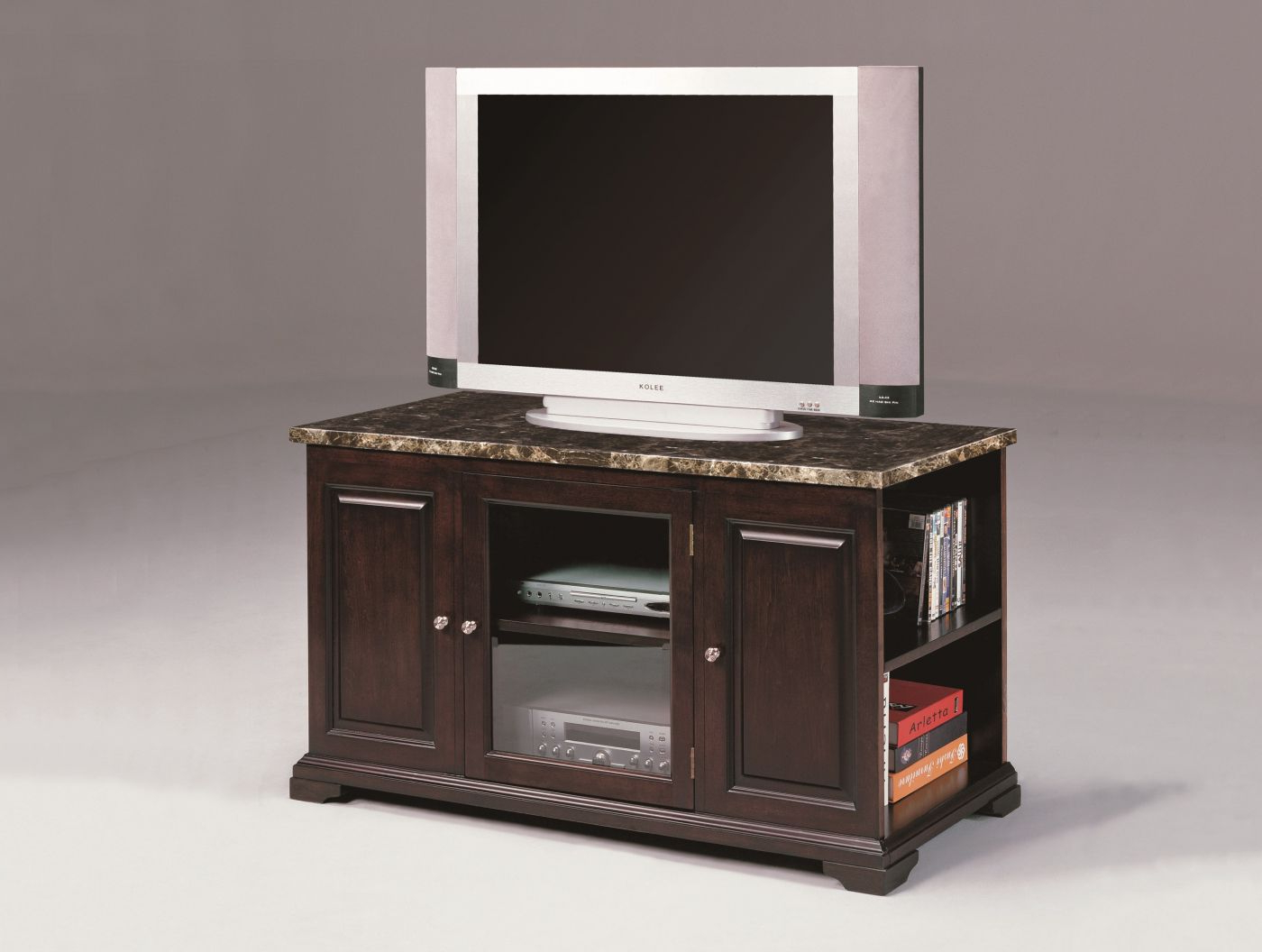 Harris Small Marble Espresso Console – Plasma Intended For Draper 62 Inch Tv Stands (View 6 of 20)