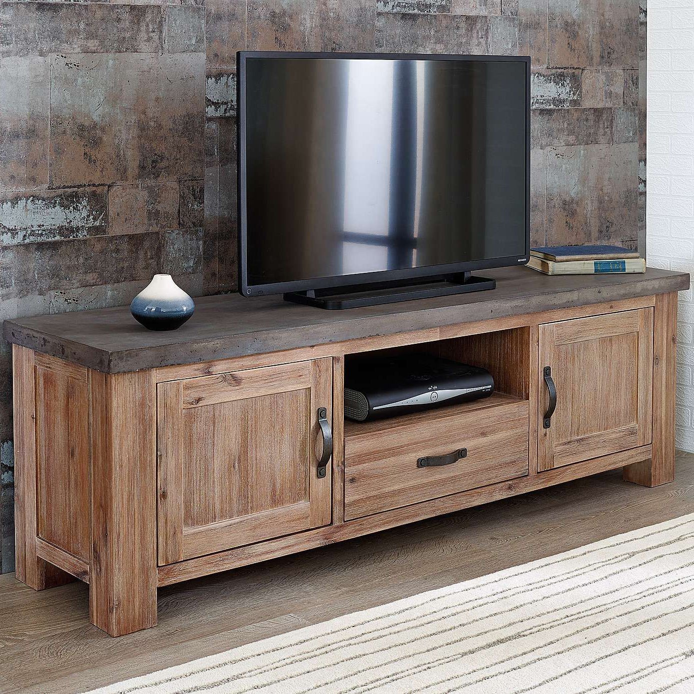 Harvey Acacia Tv Stand In 2019 | Livingroom | Tv Unit, Furniture, Tv With Walton Grey 72 Inch Tv Stands (View 7 of 20)