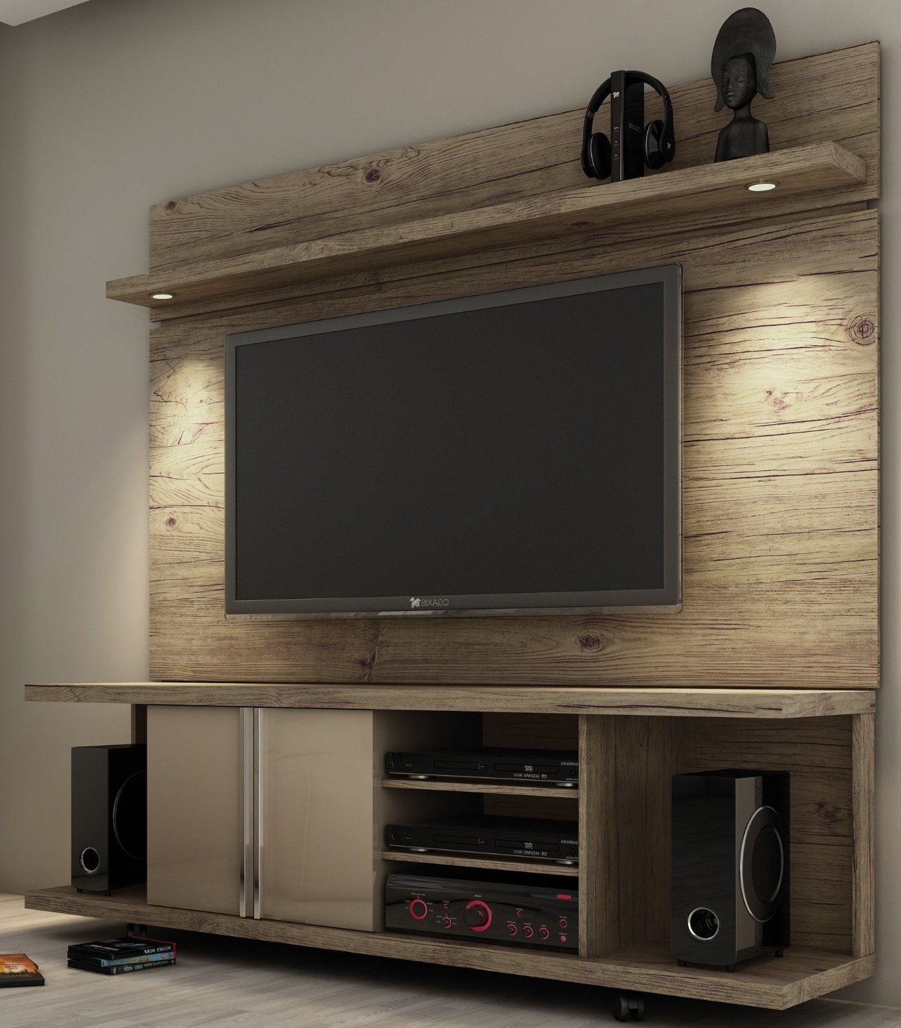 Have Pops Construct Something Like This For Me With Reclaimed Wood Intended For Cato 60 Inch Tv Stands (Gallery 3 of 20)