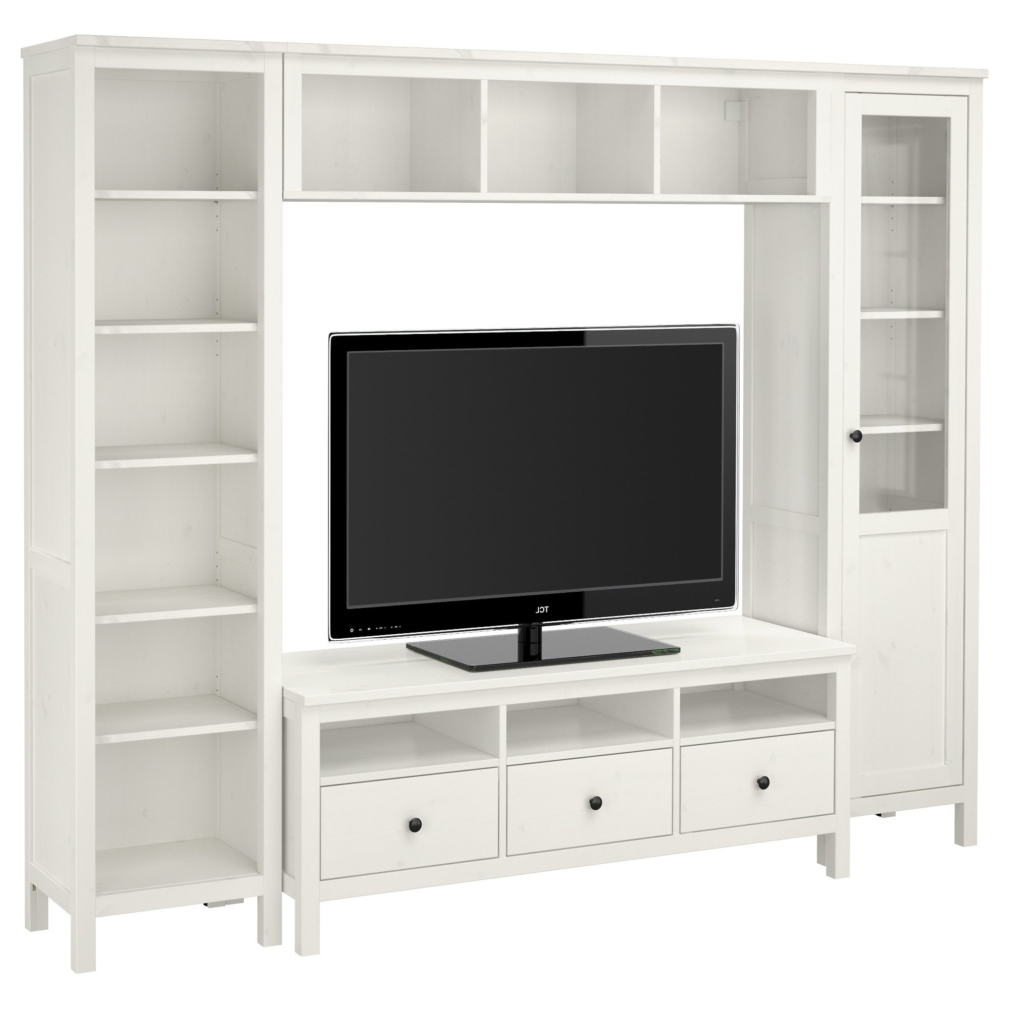 Hemnes Tv Storage Combination – White Stain – Ikea Width: 97 1/4 Pertaining To Dixon White 58 Inch Tv Stands (View 4 of 20)