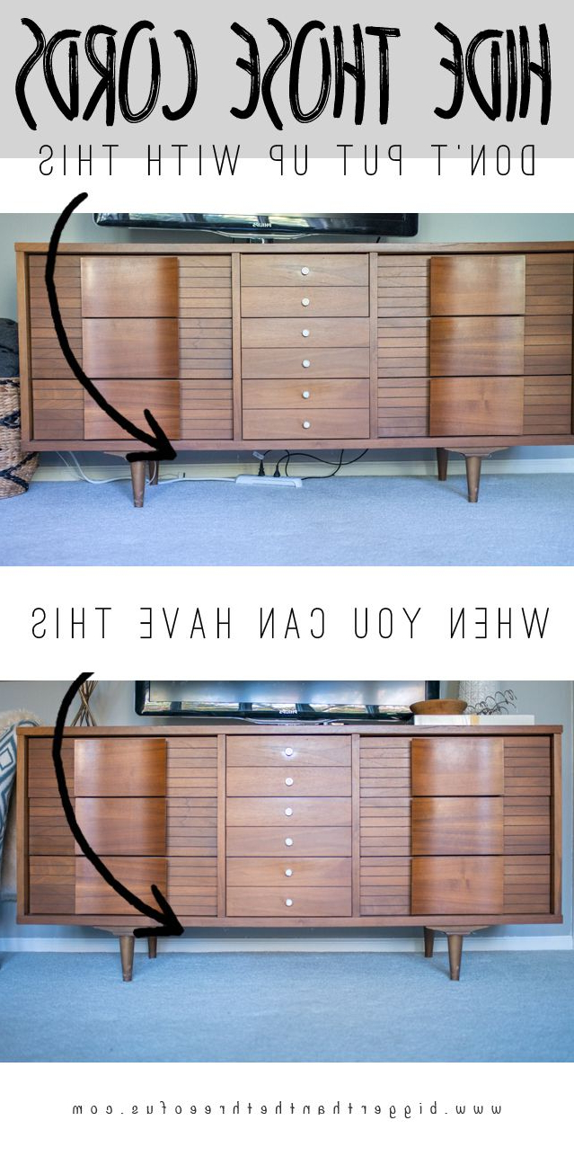 Hide Those Cords (Hiding Tv Wires, Etc!) | Apt Decorating | Hide Tv Regarding Casey Grey 54 Inch Tv Stands (View 4 of 20)