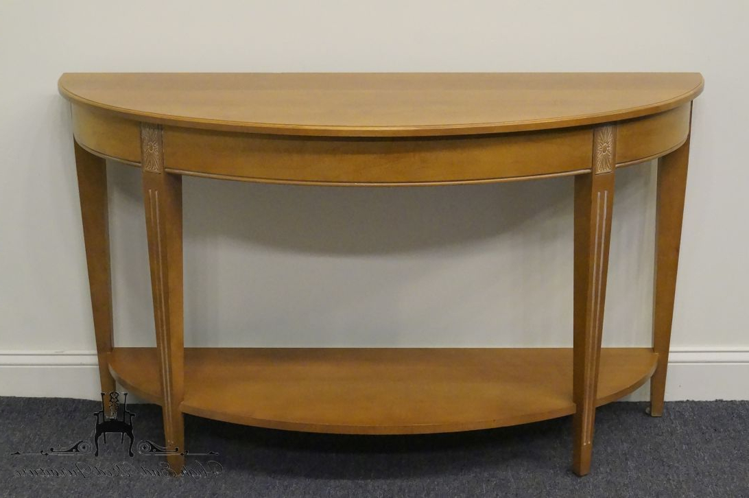 High End Used Furniture | Ethan Allen Swedish Home Crescent Console With Ethan Console Tables (View 11 of 20)