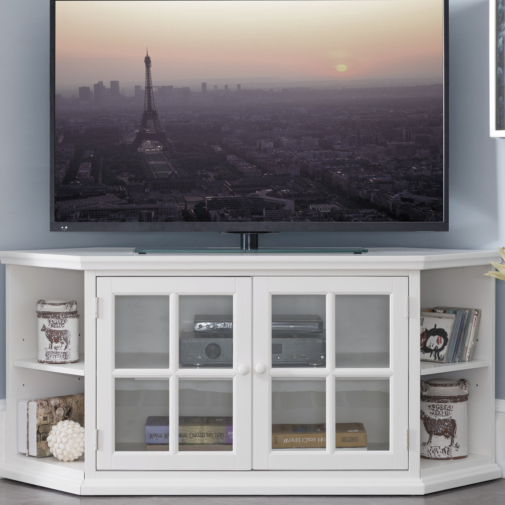 "Highland Dunes Galles Corner Tv Stand For Tvs Up To 65"" & Reviews In Caden 63 Inch Tv Stands (View 4 of 20)"