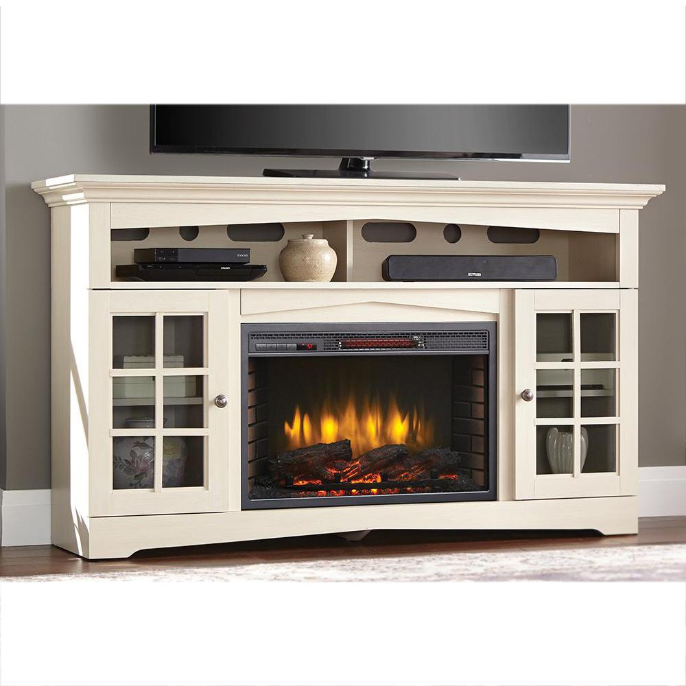 Home Decorators Collection Avondale Grove 59 In. Tv Stand Infrared Intended For Dixon White 65 Inch Tv Stands (Gallery 5 of 20)