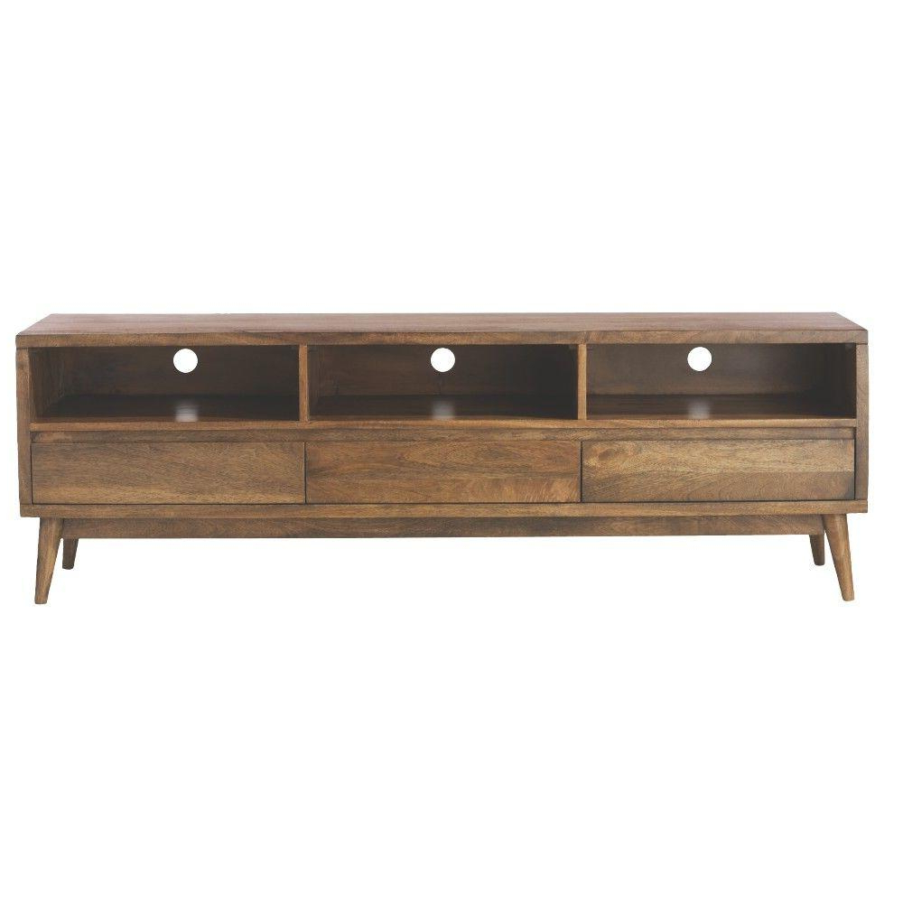 Home Decorators Collection Conrad Antique Natural Entertainment Regarding Draper 62 Inch Tv Stands (View 9 of 20)