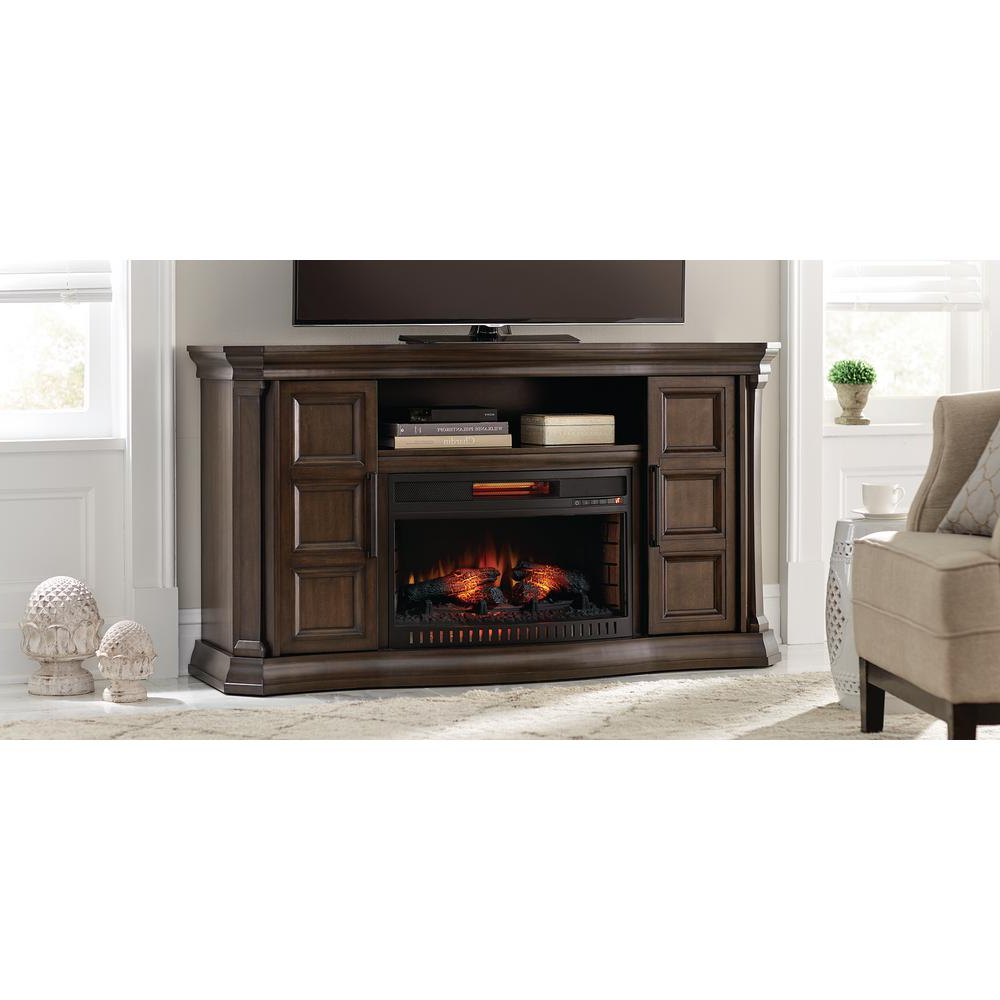 Home Decorators Collection Park Canyon 59.75 In. Bow Front Electric With Regard To Canyon 54 Inch Tv Stands (Gallery 5 of 20)