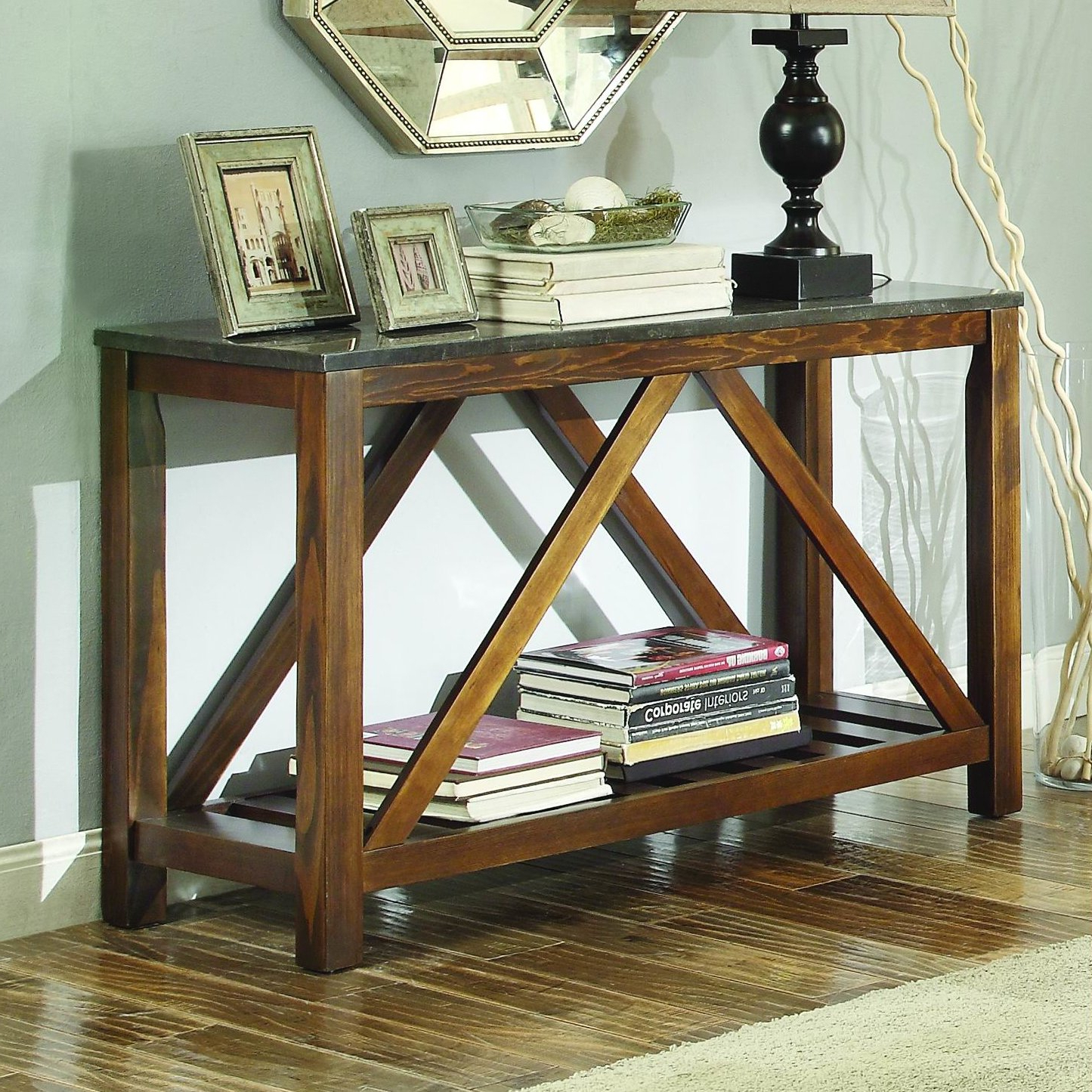Homelegance Ashby Console Table | Wayfair Regarding Bluestone Console Tables (View 12 of 20)