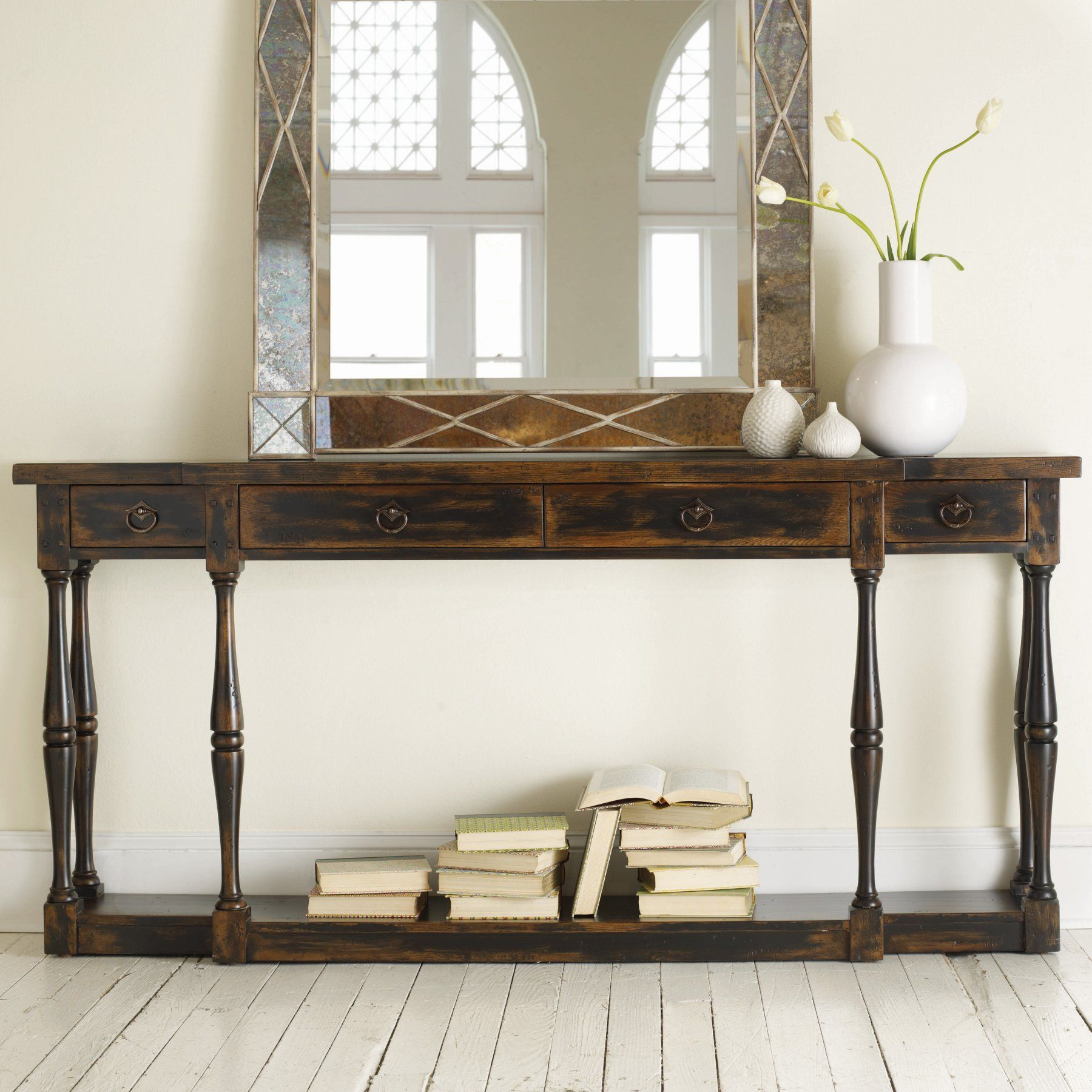 Hooker Furniture Ebony 4 Drawer Thin Console – 3005 85001 Inside Ventana Display Console Tables (View 10 of 20)