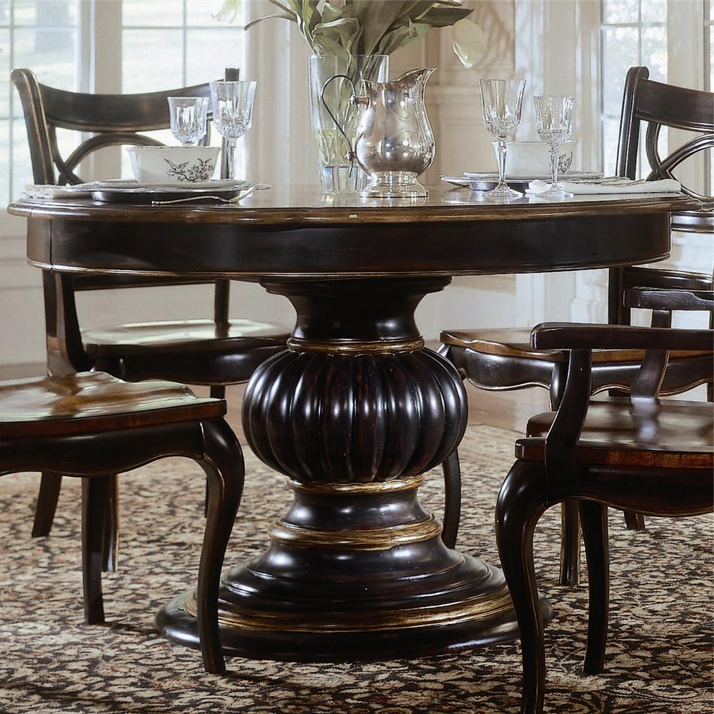 Hooker Furniture Preston Ridge Pedestal Dining Table – Ahfa – Dining With Regard To Preston 66 Inch Tv Stands (View 5 of 20)