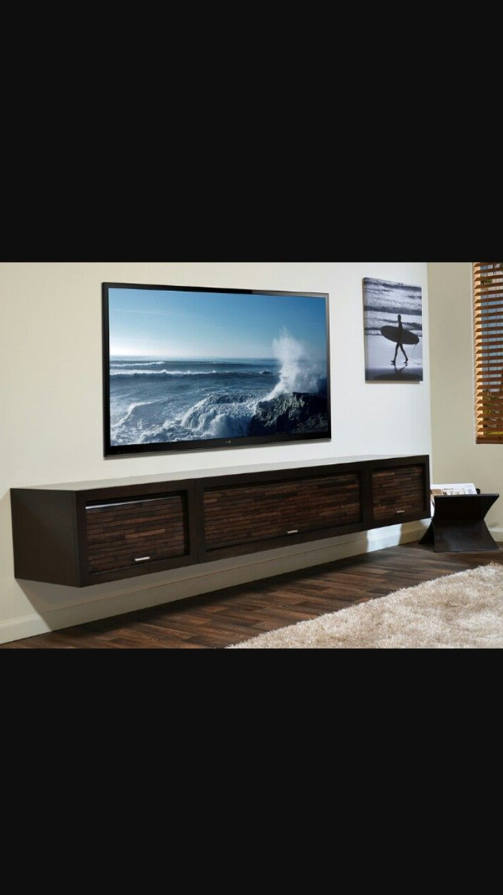 Huge Floating Shelf. Fits Great With 80 Inch Tv (View 3 of 20)