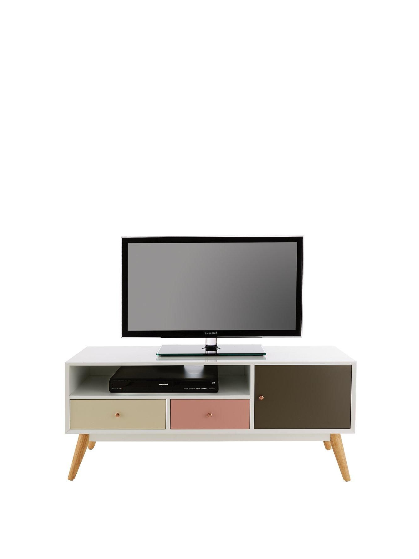 Ideal Home Orla Blush Tv Unit – Fits Up To 50 Inch Tv | Living Room Within Maddy 50 Inch Tv Stands (View 5 of 20)
