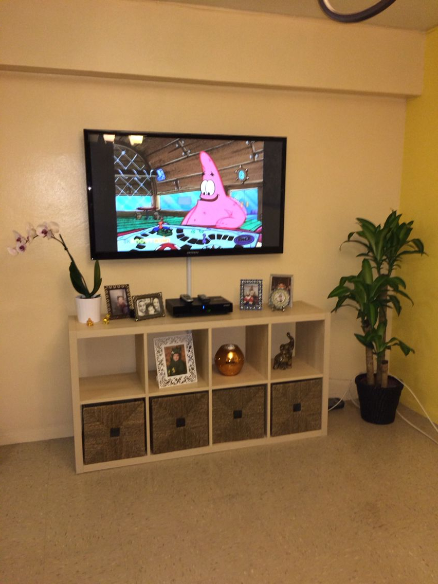 Ikea Kallax, Made As A Tv Stand | Ikea Kallax | Ikea, Ikea Tv With Vista 68 Inch Tv Stands (View 4 of 20)