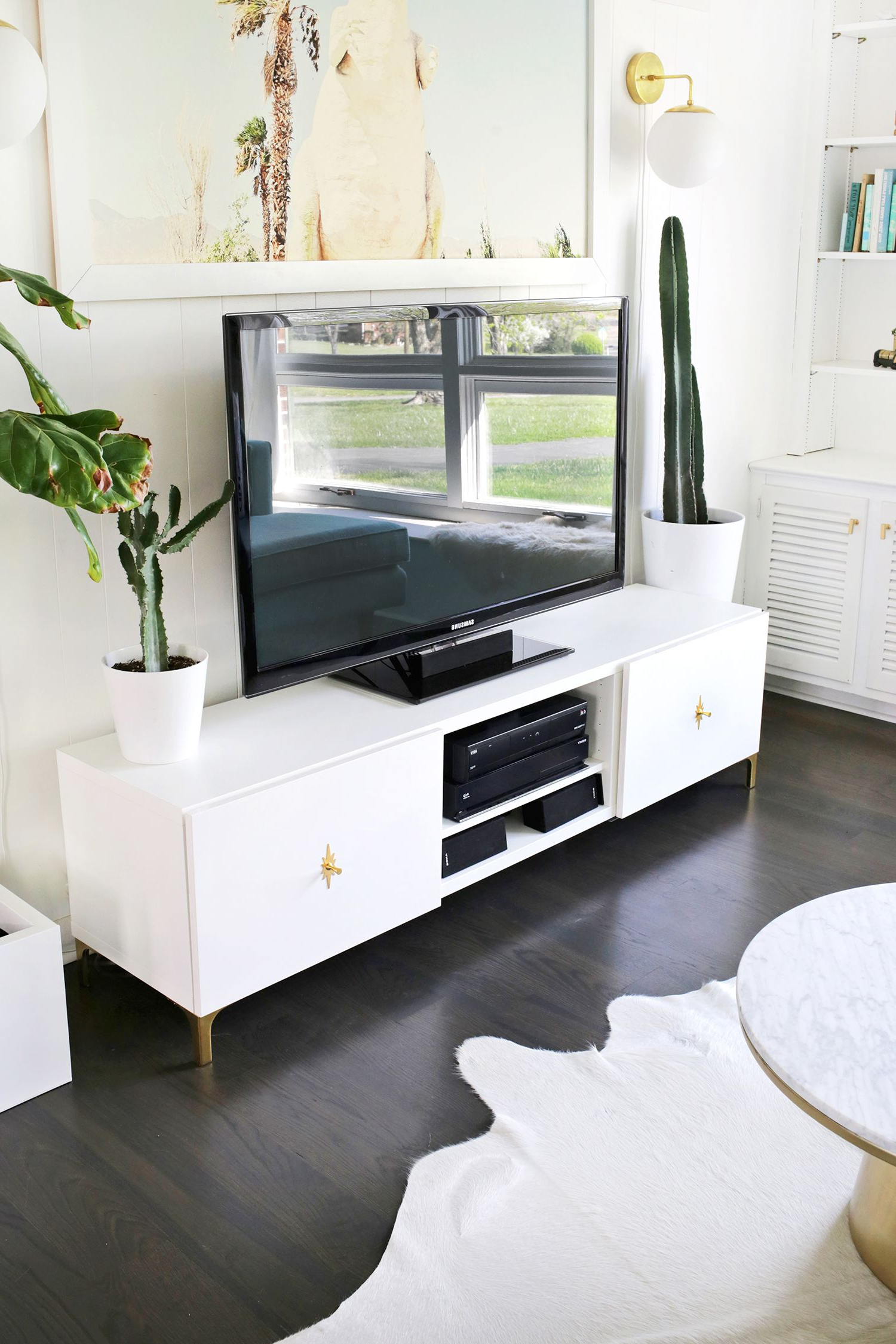 Ikea Restyle: Mid Century Tv Stand (A Beautiful Mess) | Ideas For My Regarding Century White 60 Inch Tv Stands (View 7 of 20)