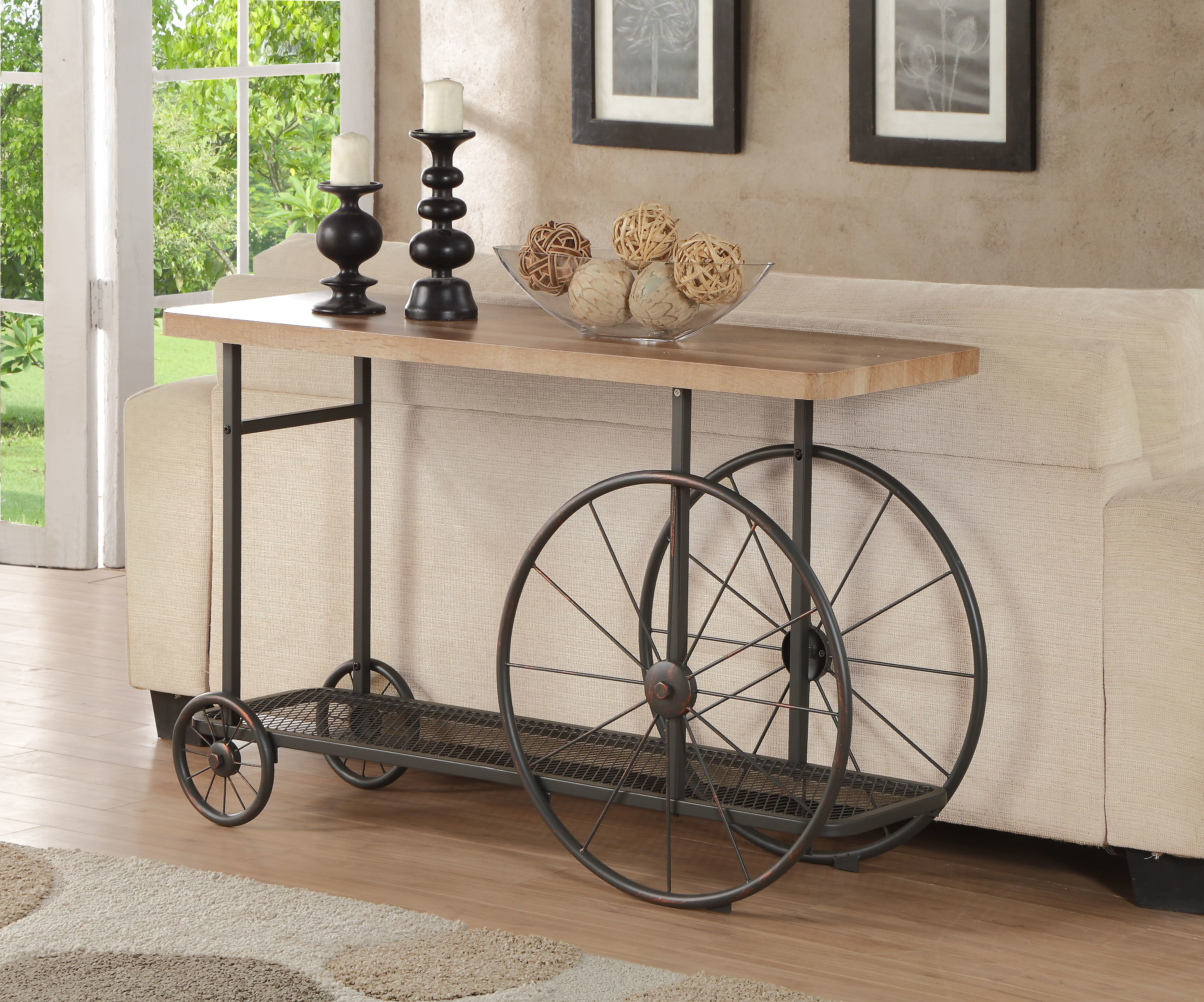 Industrial Console Tables You'll Love | Wayfair Within Parsons Grey Solid Surface Top & Elm Base 48x16 Console Tables (View 12 of 20)
