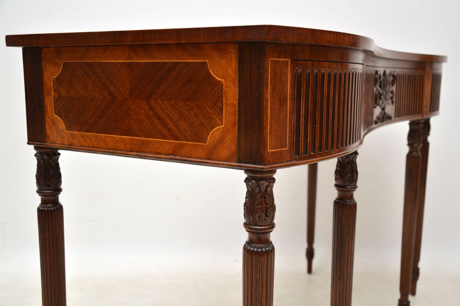 Inlaid Mahogany & Kingwood Server Console Table C.1930 – La114153 With Orange Inlay Console Tables (Gallery 9 of 20)