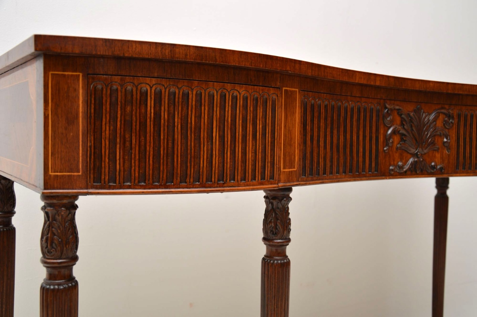 Inlaid Mahogany & Kingwood Server Console Table C (View 19 of 20)