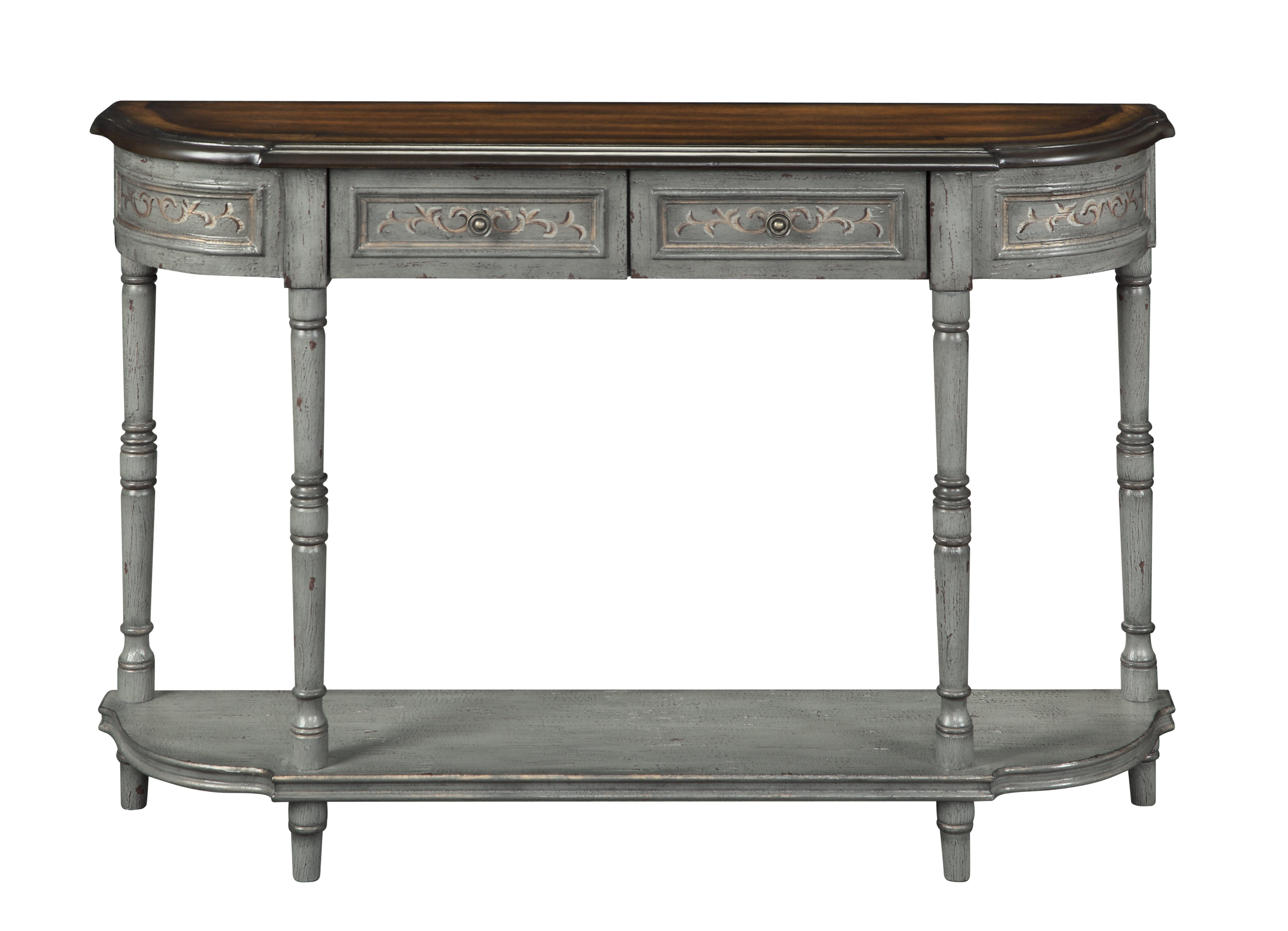 Itchington Console Table & Reviews | Joss & Main Throughout Hand Carved White Wash Console Tables (View 10 of 20)