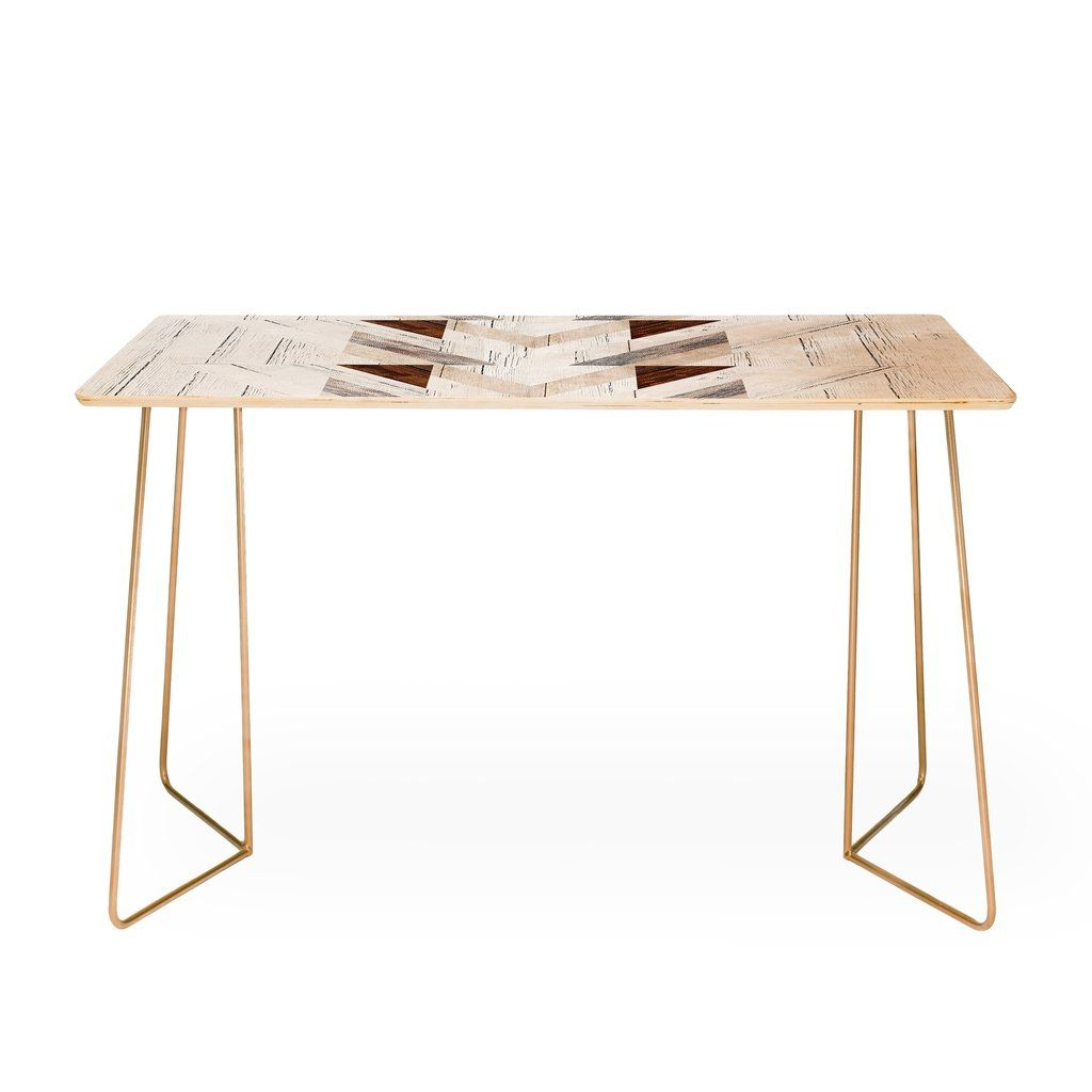 Iveta Abolina Geo Wood 4 Desk | Geo, Buy Desk And Desks Intended For Parsons Black Marble Top & Elm Base 48x16 Console Tables (View 5 of 20)