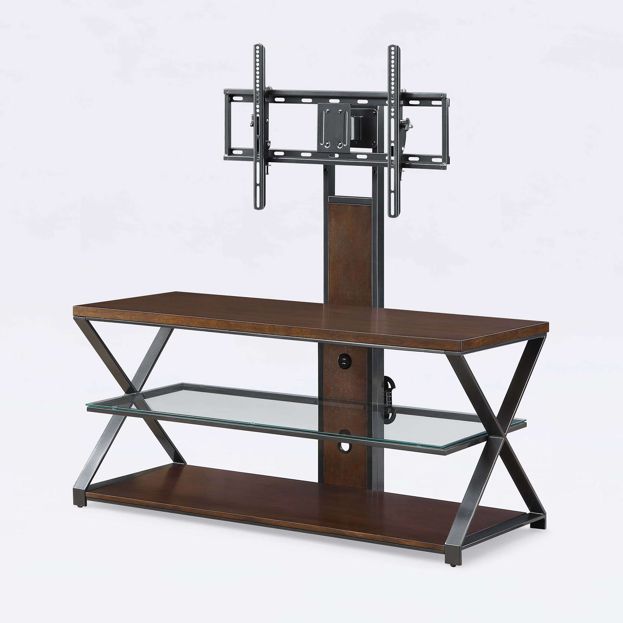 """Jaxon 3 In 1 Cognac Tv Stand For Tvs Up To 70"""" – Walmart Within Jaxon 76 Inch Plasma Console Tables (View 4 of 20)"""