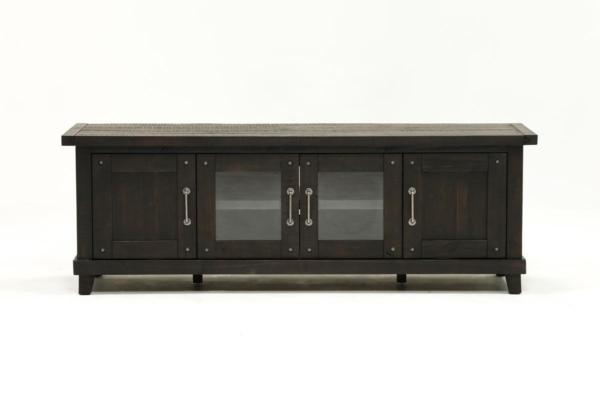 Jaxon 76 Inch Plasma Console | Living Spaces Within Natural 2 Door Plasma Console Tables (View 14 of 20)
