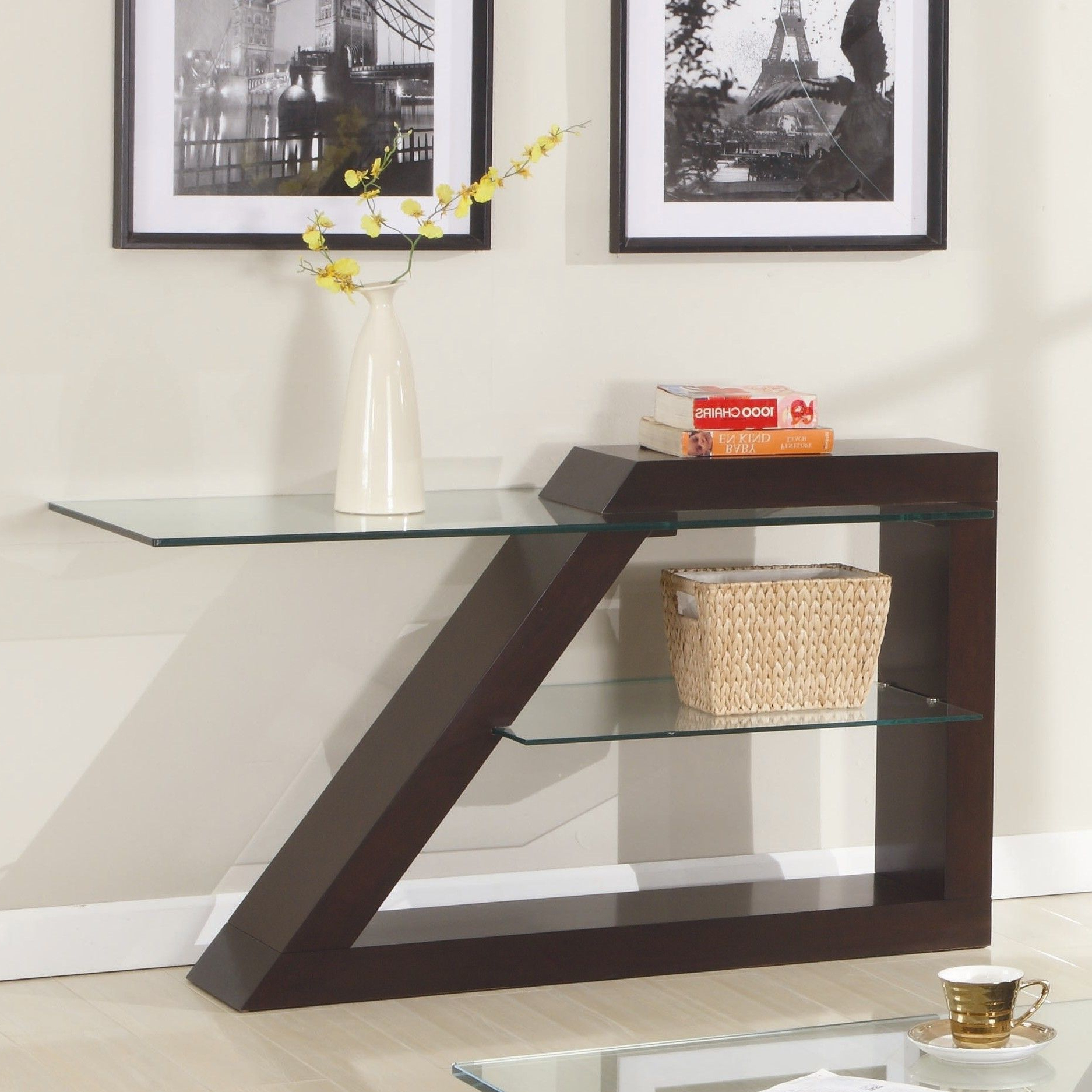 Jensen Console Table | For The Home | Pinterest | Sofa, Sofa Tables Inside Parsons Walnut Top & Brass Base 48X16 Console Tables (Gallery 12 of 20)