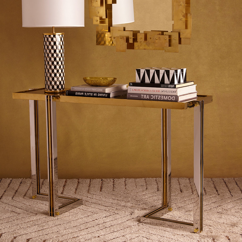 Jonathan Adler Electrum Console Table | Wayfair Throughout Ventana Display Console Tables (View 7 of 20)