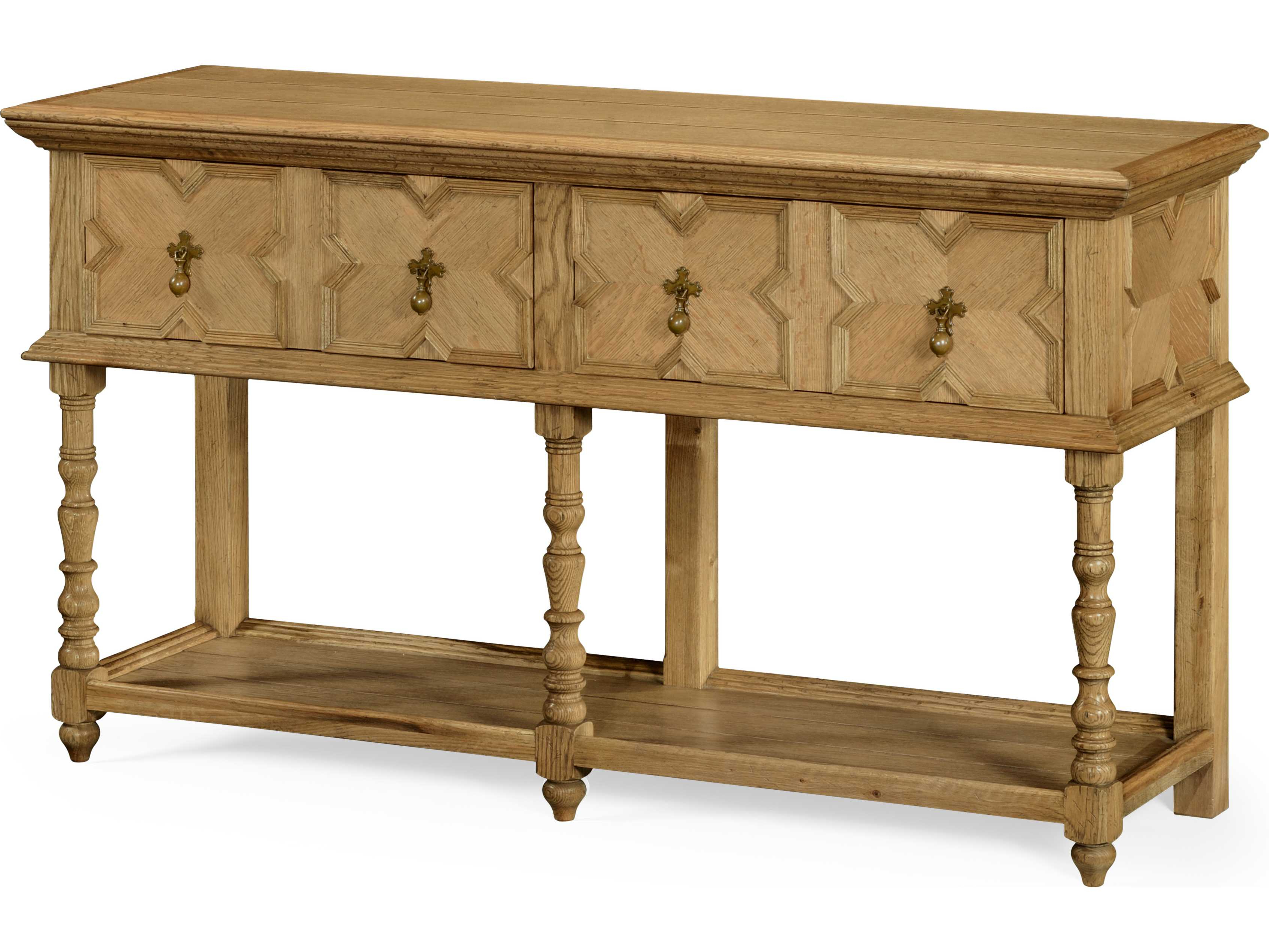 Jonathan Charles Natural Oak Light Natural Oak 64 X 20 Buffet Regarding Balboa Carved Console Tables (Gallery 20 of 20)