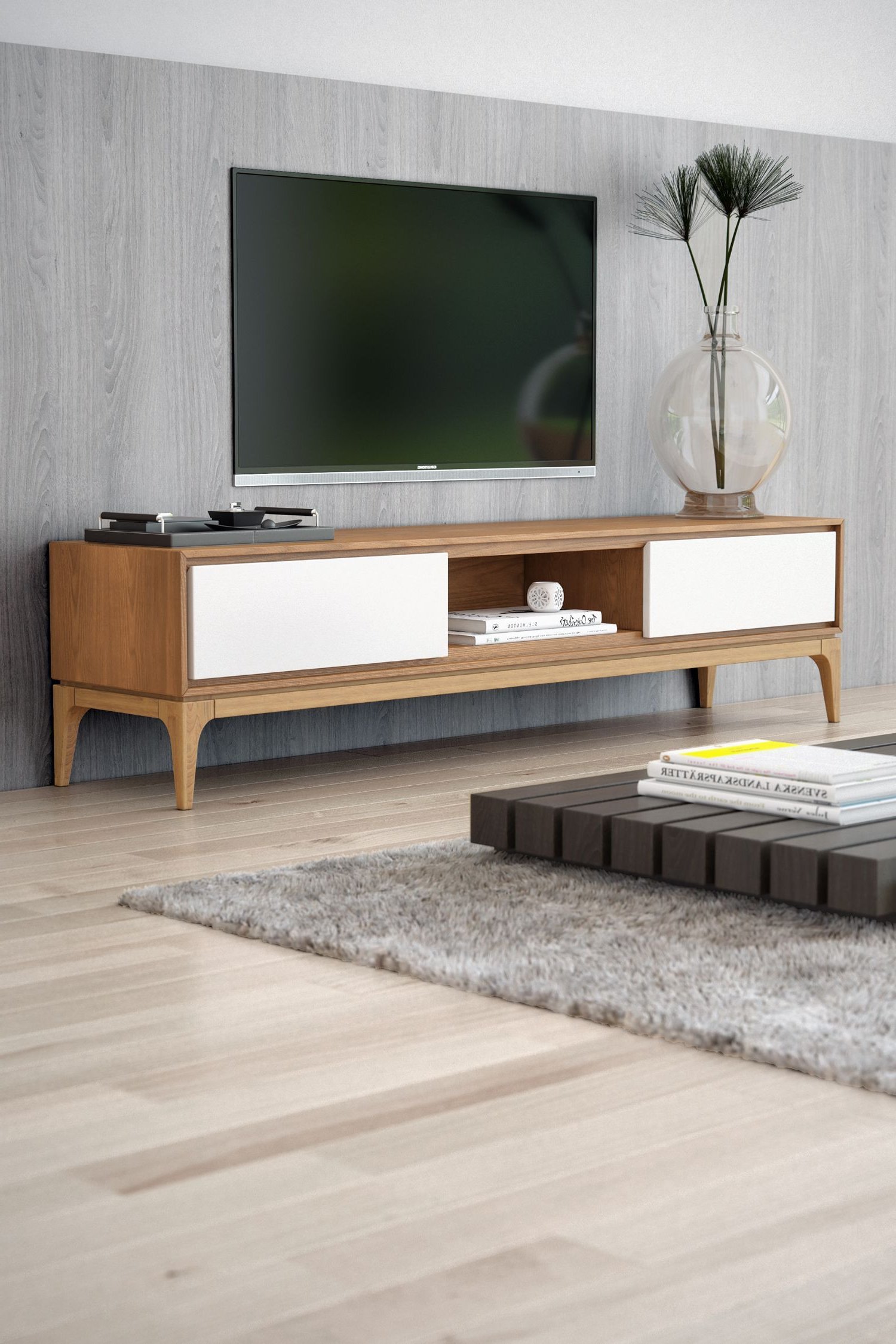 Joren Tv Stand | Rove Concepts Rove Concepts Mid Century Furniture Pertaining To Century White 60 Inch Tv Stands (Gallery 1 of 20)