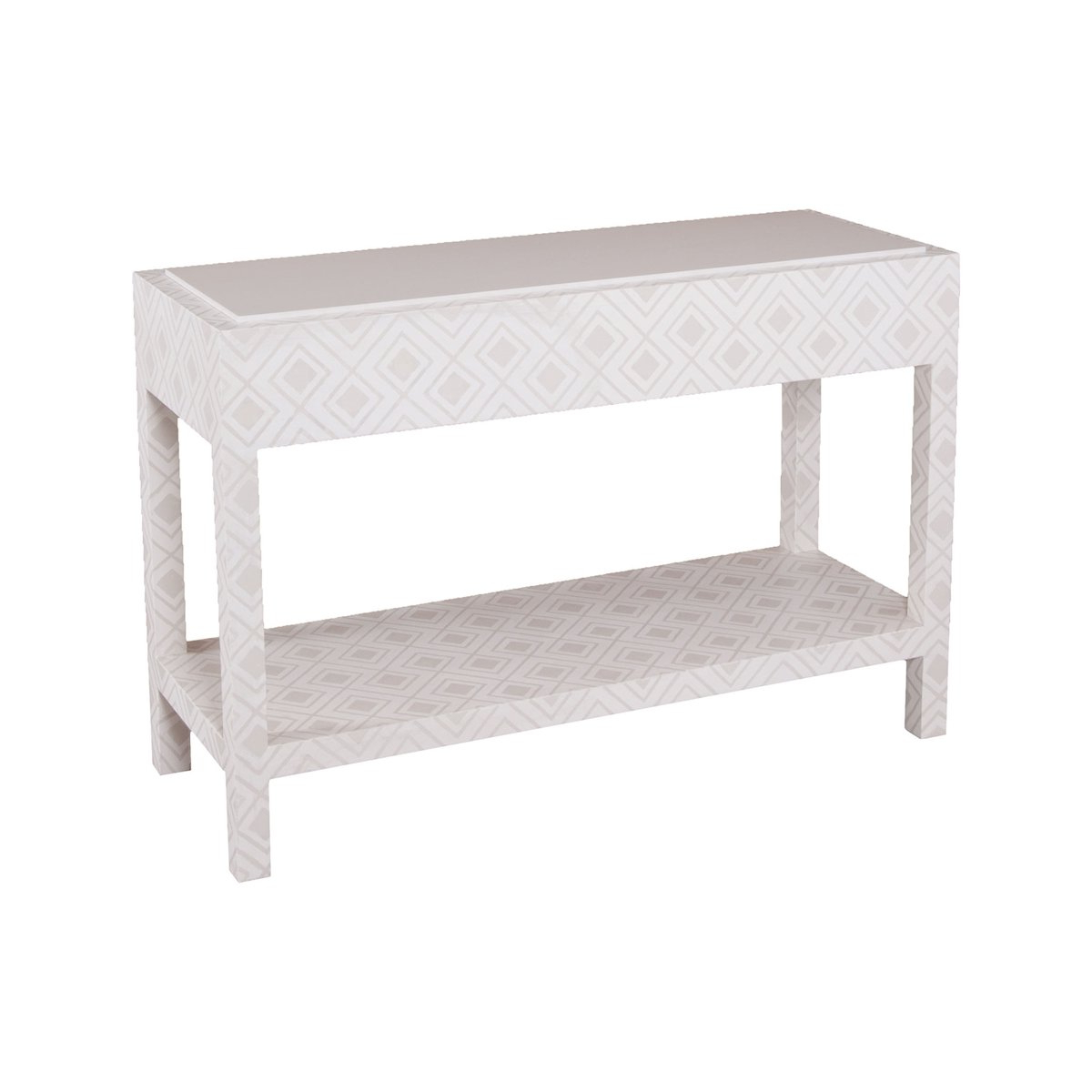 Kent Fabric Wrapped Console | Products In 2018 | Pinterest With Regard To Parsons White Marble Top & Stainless Steel Base 48x16 Console Tables (View 18 of 20)