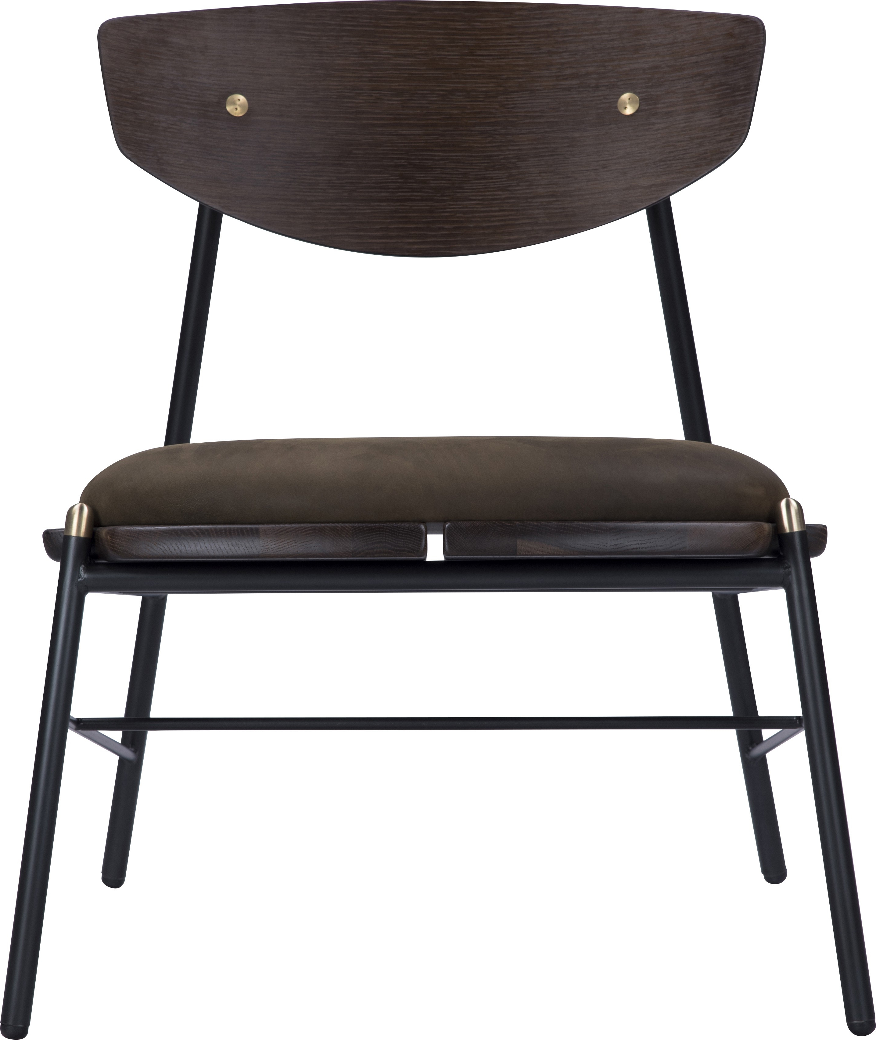 Kink Lounge Chair Jin Leather Within Mix Leather Imprint Metal Frame Console Tables (View 5 of 20)