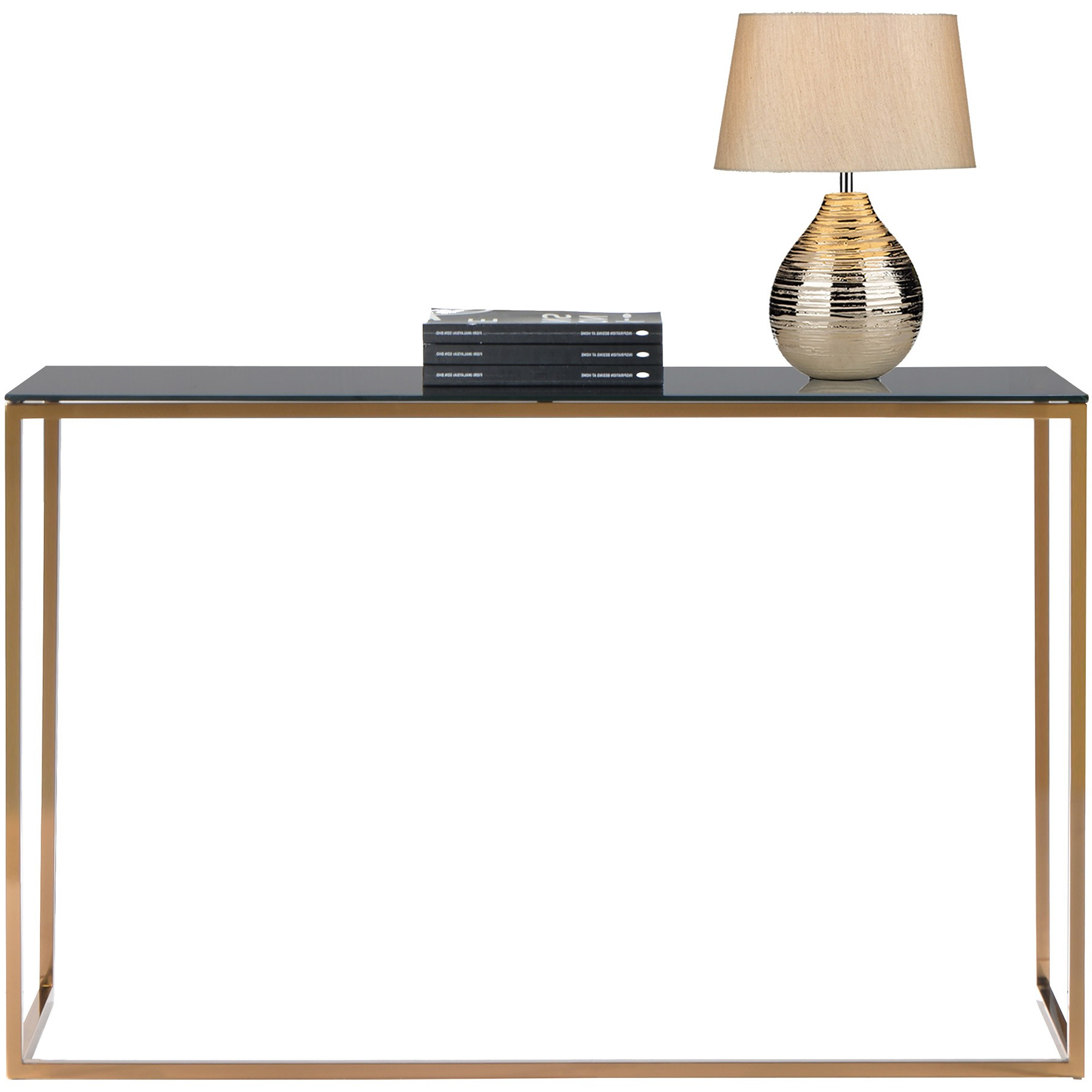 Kyra (126Cm Gold) Console Table With Tempered Glass Top With Kyra Console Tables (Gallery 10 of 20)