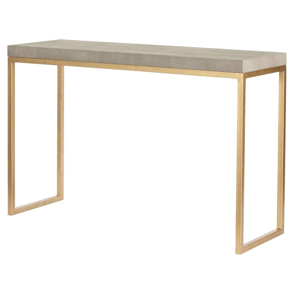 Lantau Faux Shagreen & Gold Console Table In 2019 | Dream House Throughout Faux Shagreen Console Tables (View 4 of 20)