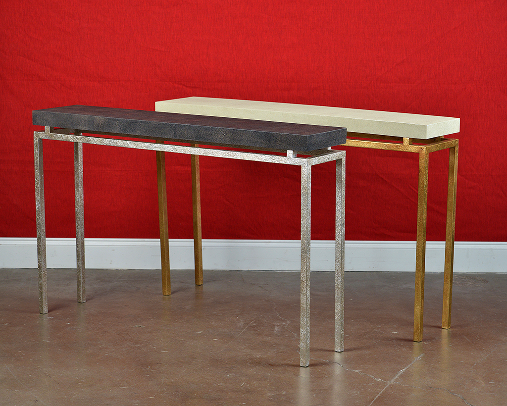 Large Benjie Clean Lined Console – Mecox Gardens Pertaining To Faux Shagreen Console Tables (View 15 of 20)