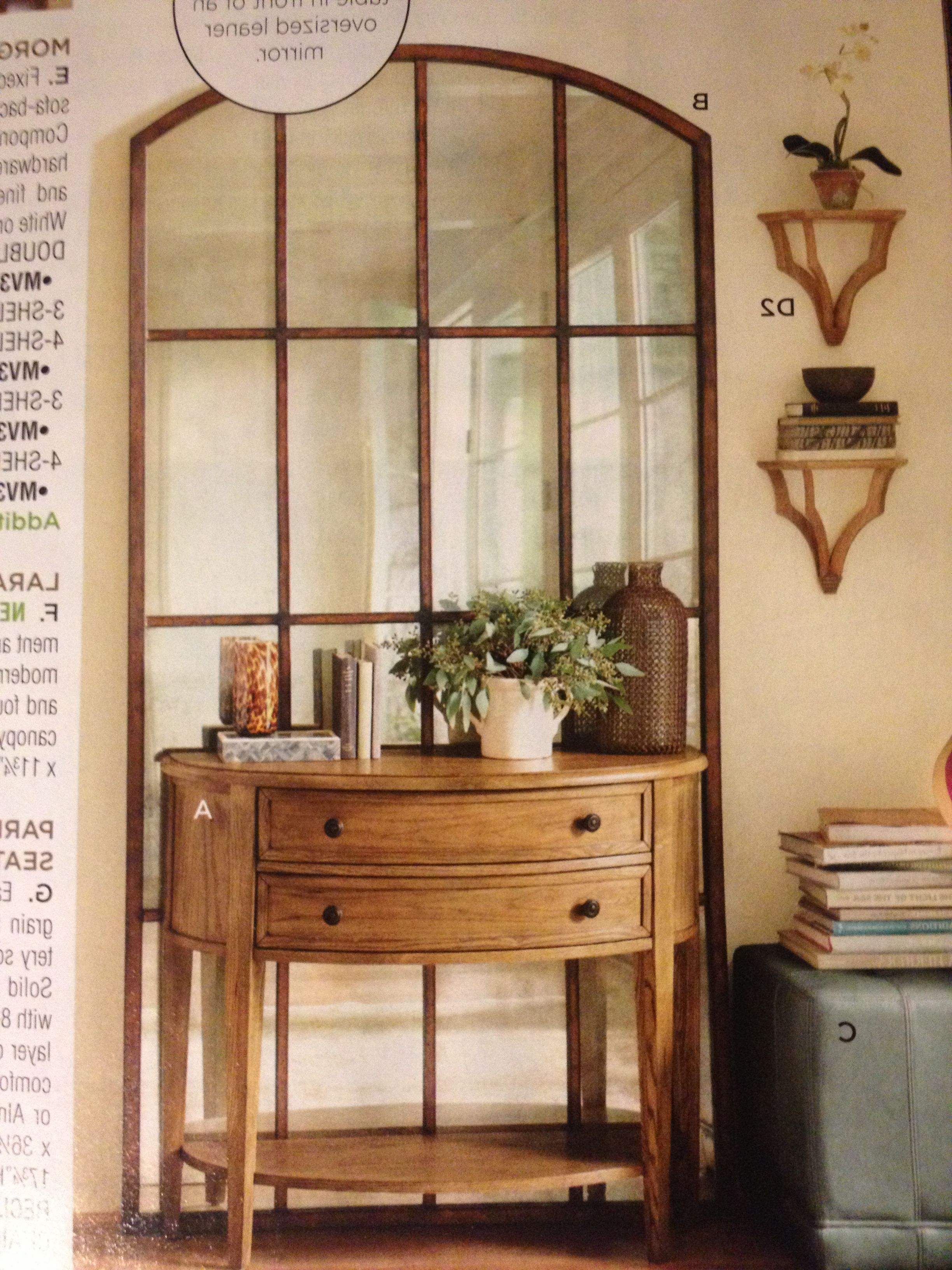 Large Mirror Behind Small Console Table (View 13 of 20)