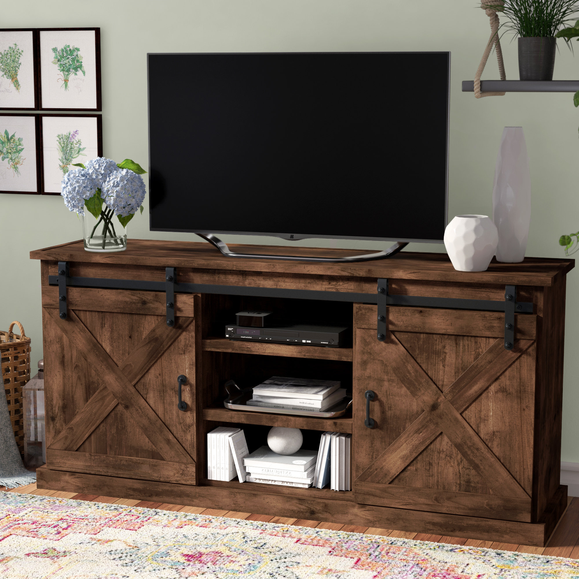 Laurel Foundry Modern Farmhouse Clair Tv Stand For Tvs Up To 66 For Casey Grey 66 Inch Tv Stands (View 4 of 20)