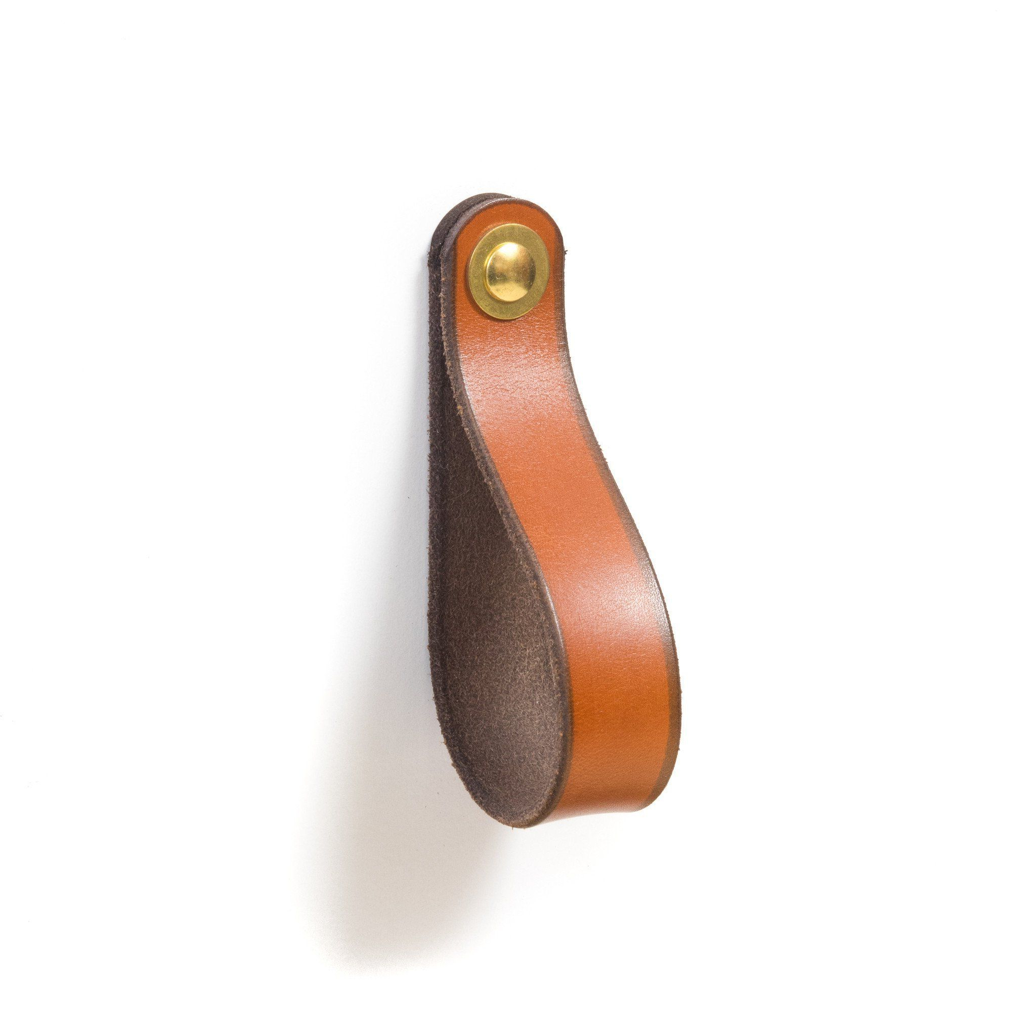Leather Drawer Pull – The Hawthorne (Large) | Products | Pinterest For Parsons Walnut Top & Dark Steel Base 48X16 Console Tables (View 16 of 20)