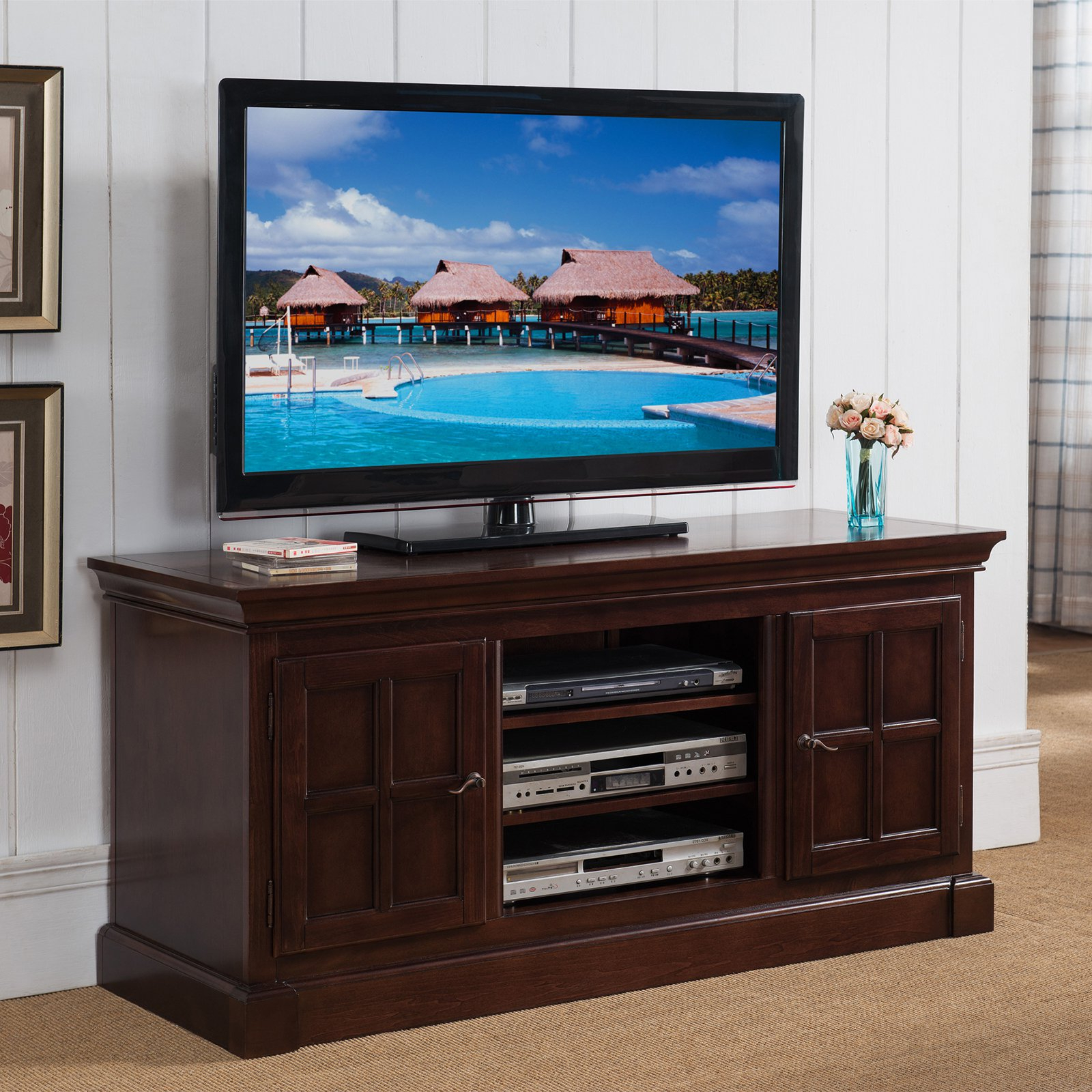 Leick Laurent 50 In. Tv Stand | Hayneedle Pertaining To Laurent 50 Inch Tv Stands (Gallery 15 of 20)